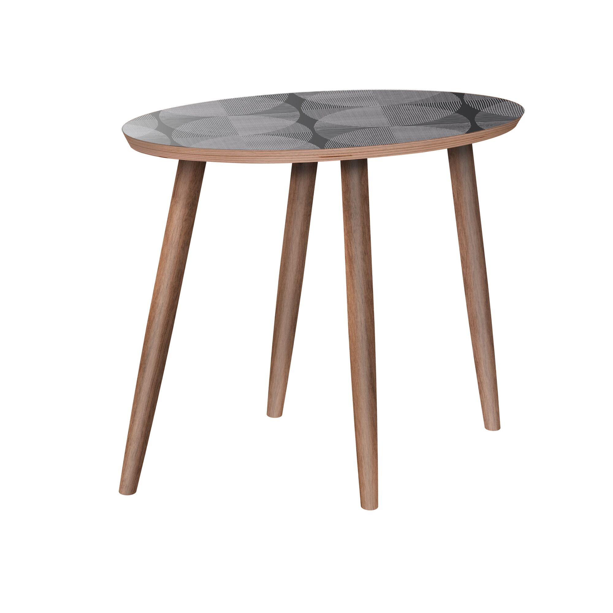 Meghann End Table Color: Walnut