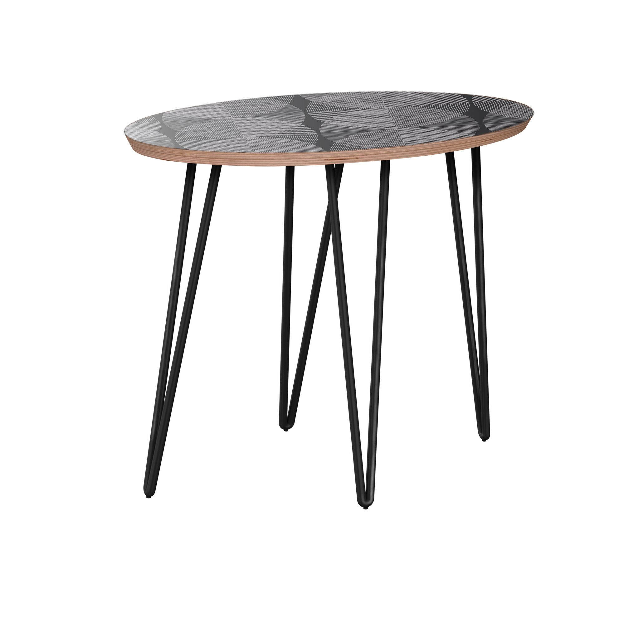 Kimberlee End Table Table Base Color: Black, Table Top Color: Walnut