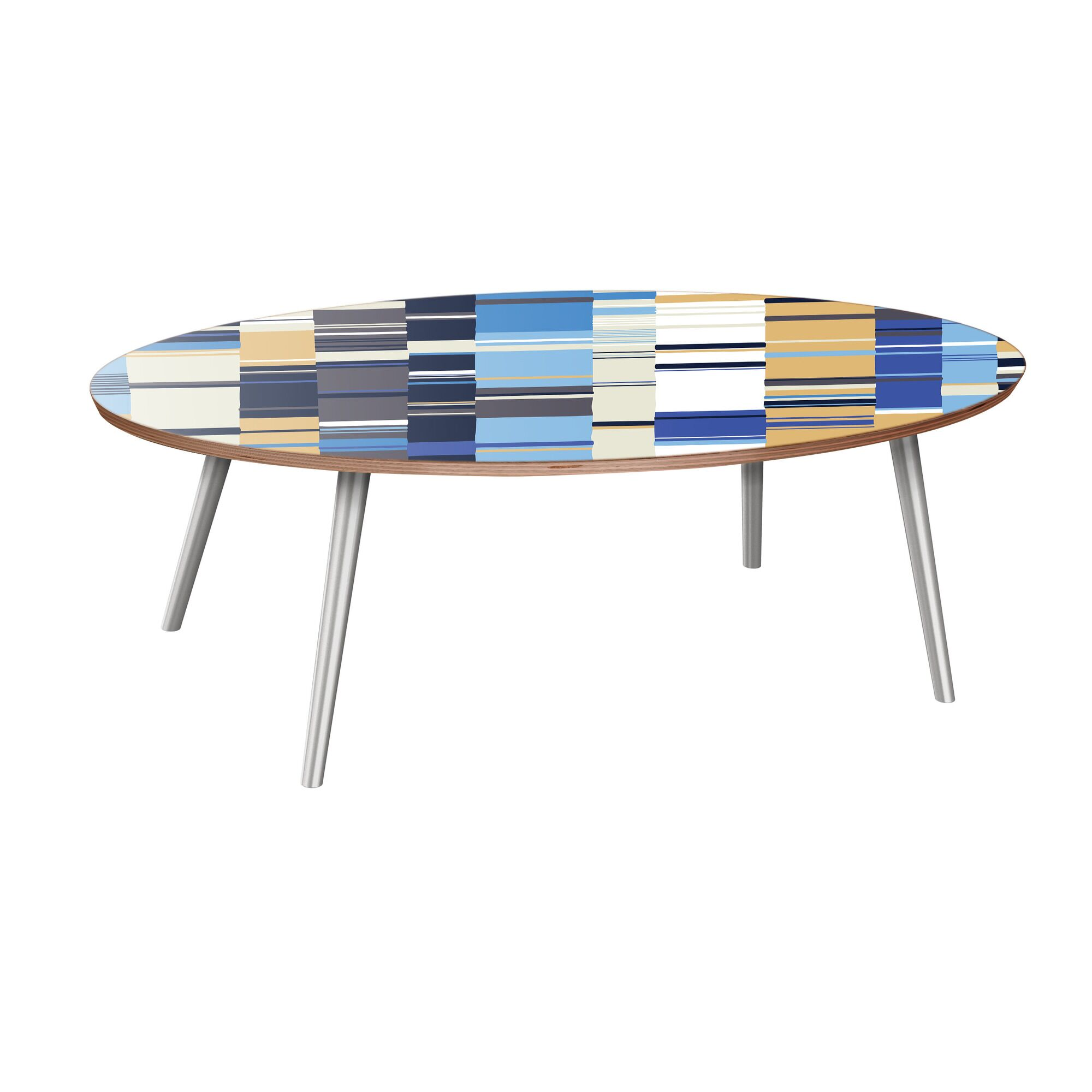 Schnieders Coffee Table Table Base Color: Chrome, Table Top Color: Walnut