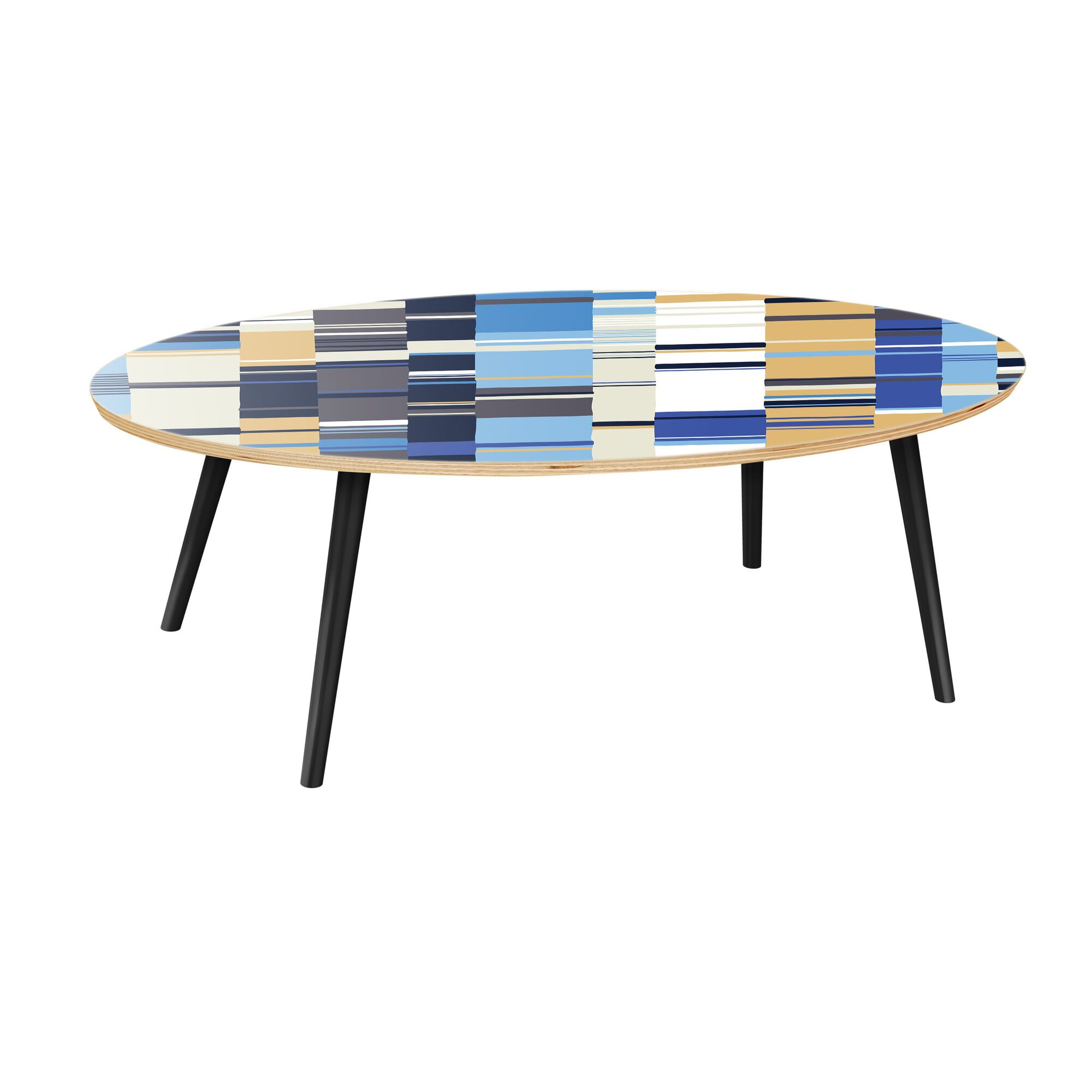 Schnieders Coffee Table Table Top Color: Natural, Table Base Color: Black