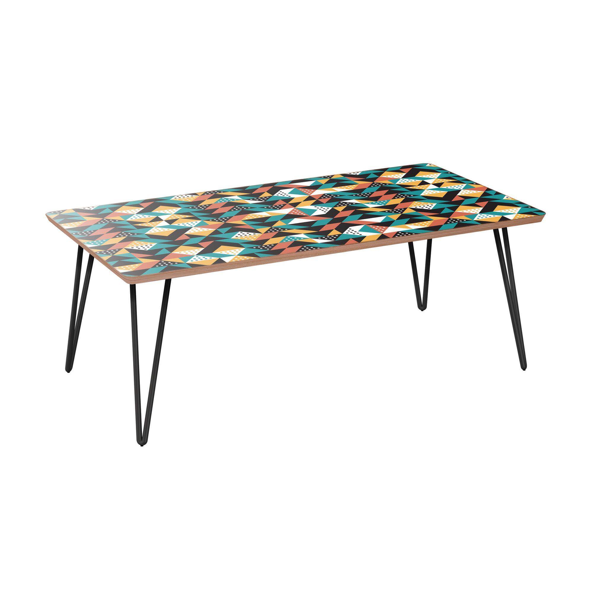 Arceneaux Coffee Table Table Base Color: Black, Table Top Color: Walnut
