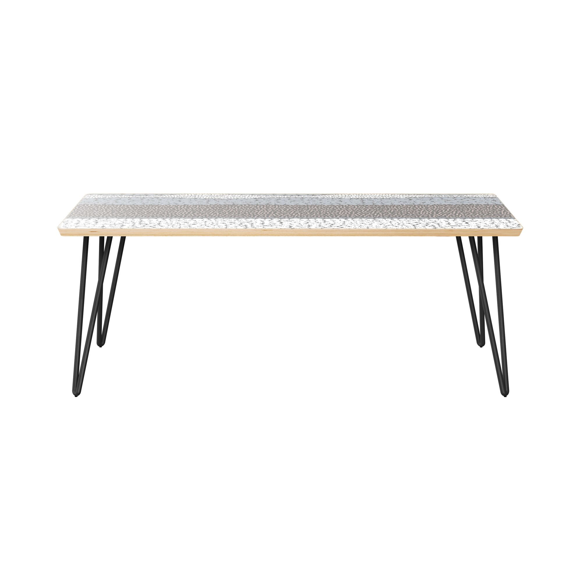 Kaitlinn Coffee Table Table Top Color: Natural, Table Base Color: Black