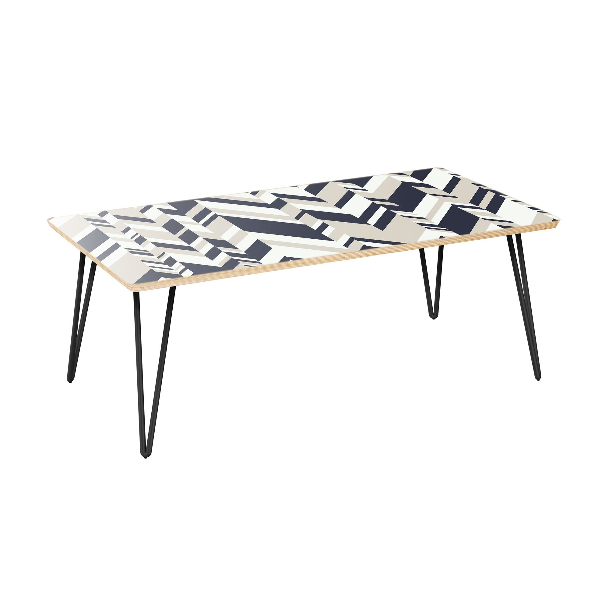 Gael Coffee Table Table Top Color: Natural, Table Base Color: Black