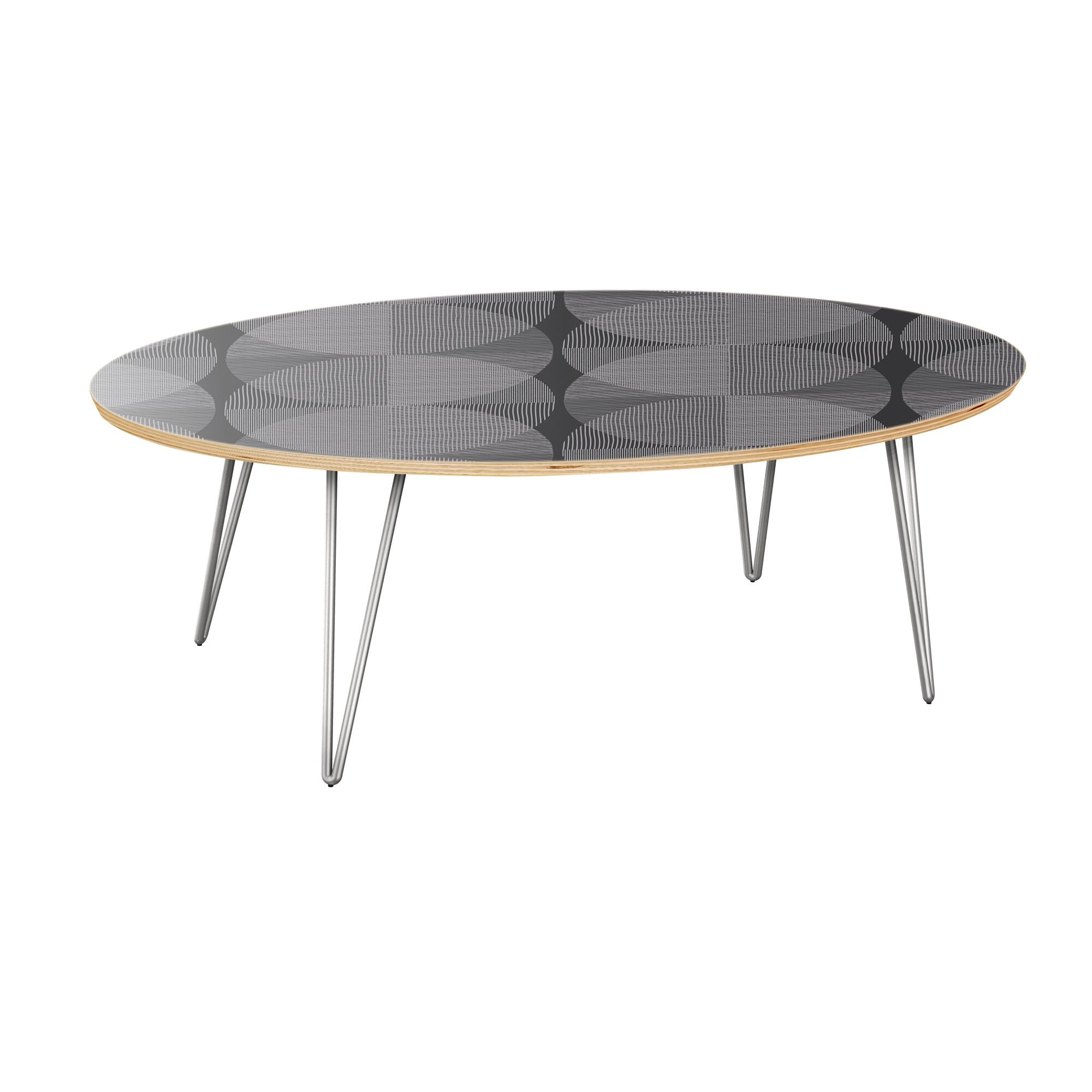 Kit Coffee Table Table Top Color: Natural, Table Base Color: Chrome