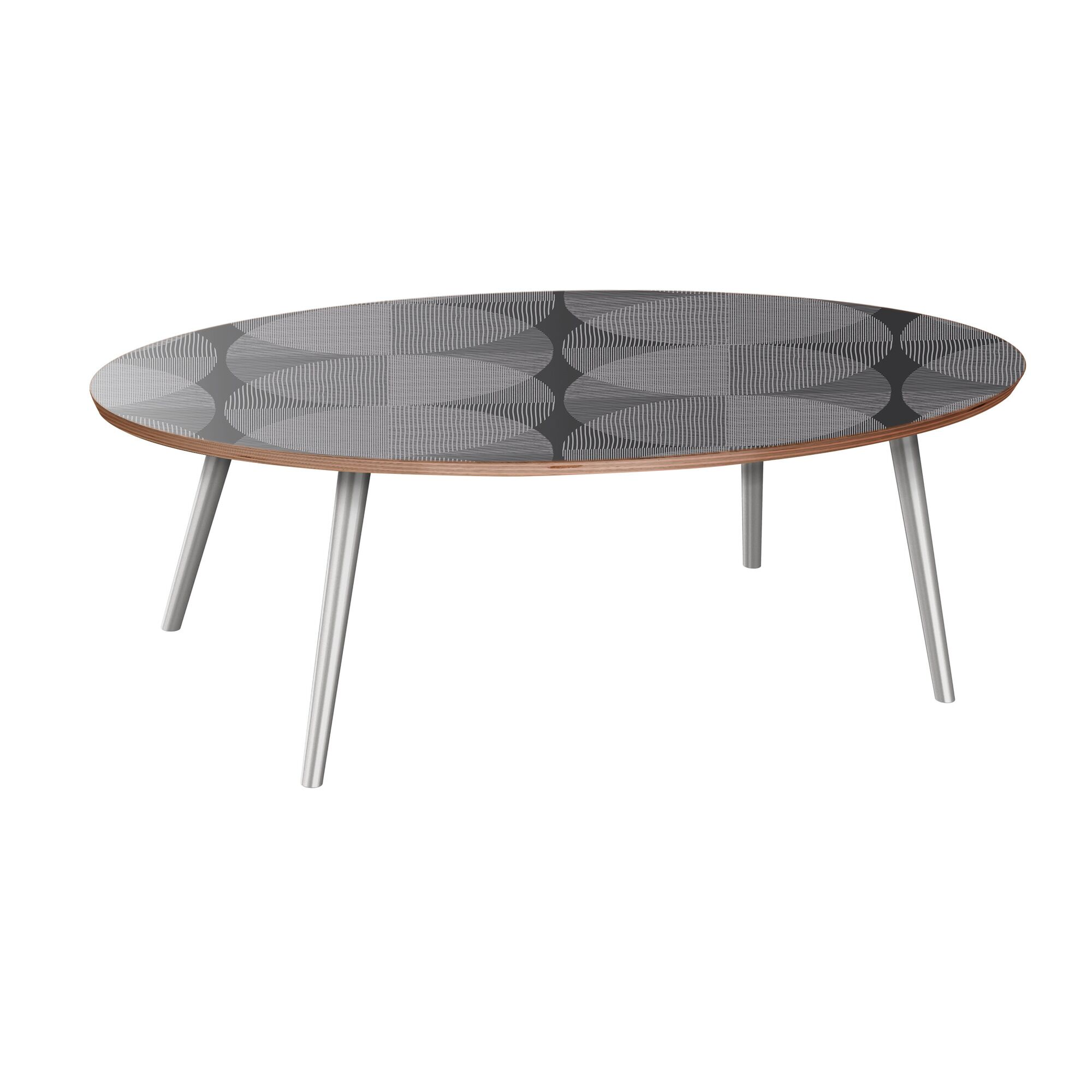 Kittredge Coffee Table Table Base Color: Chrome, Table Top Color: Walnut