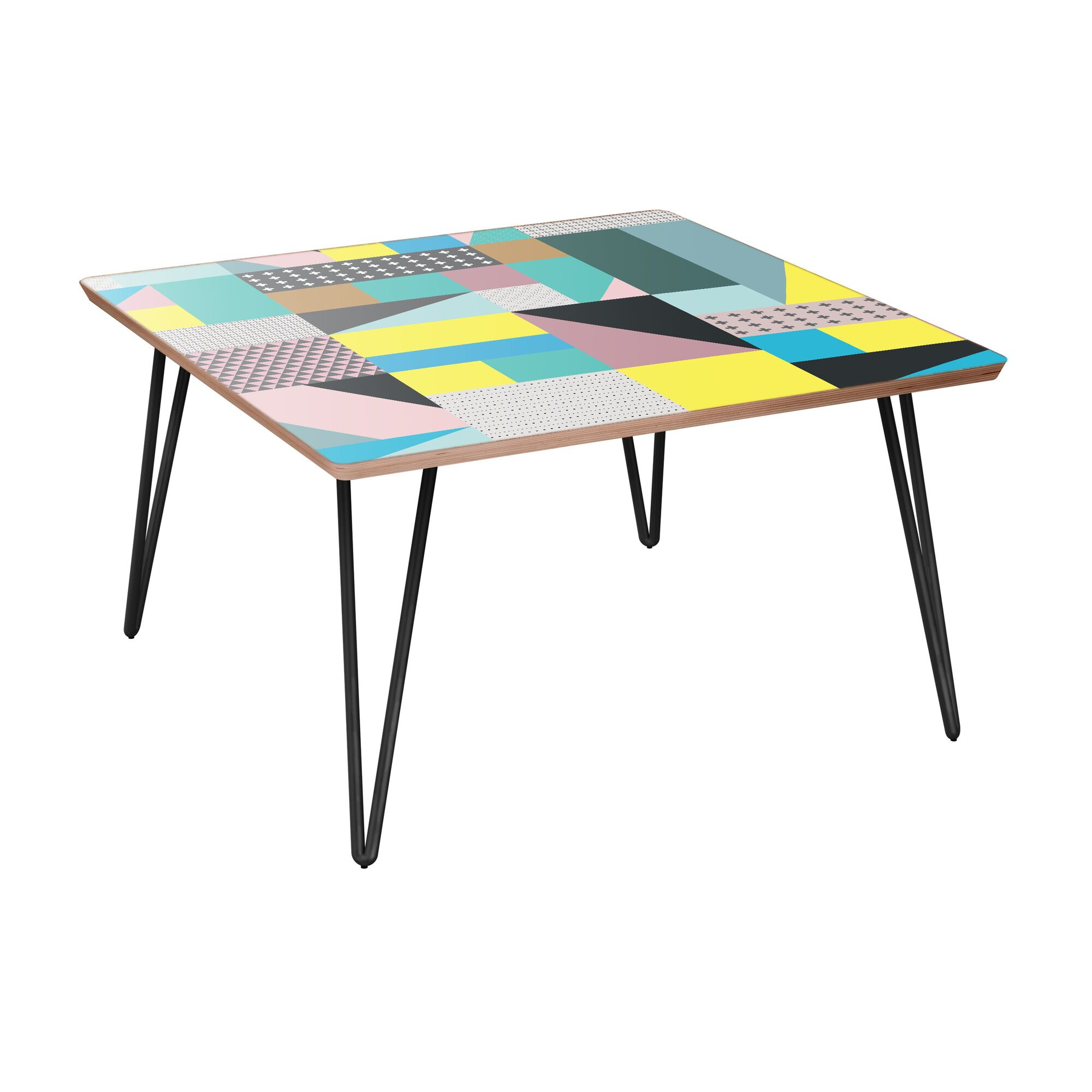 Jovanny Coffee Table Table Base Color: Black, Table Top Color: Walnut