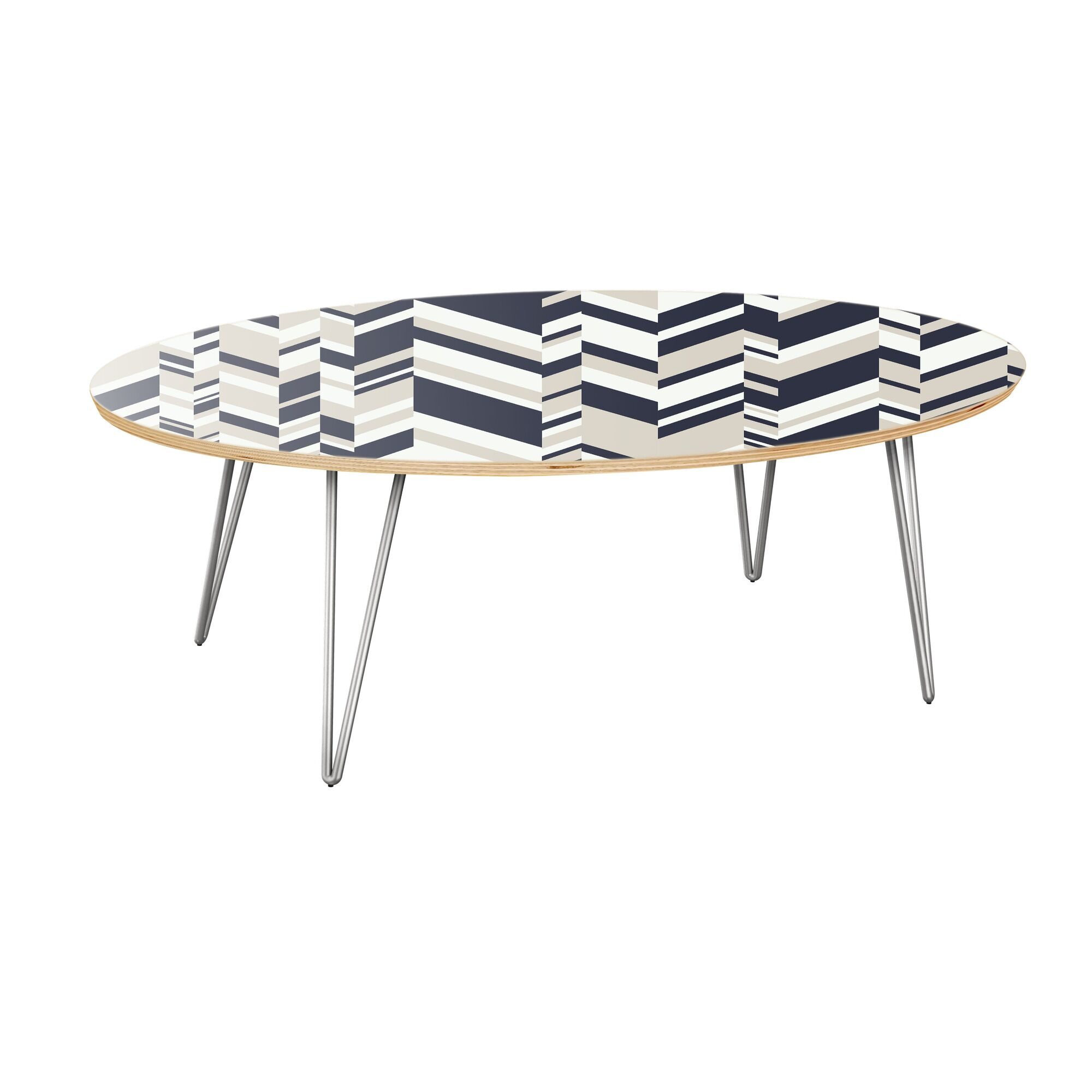 Kittrell Coffee Table Table Top Color: Natural, Table Base Color: Chrome