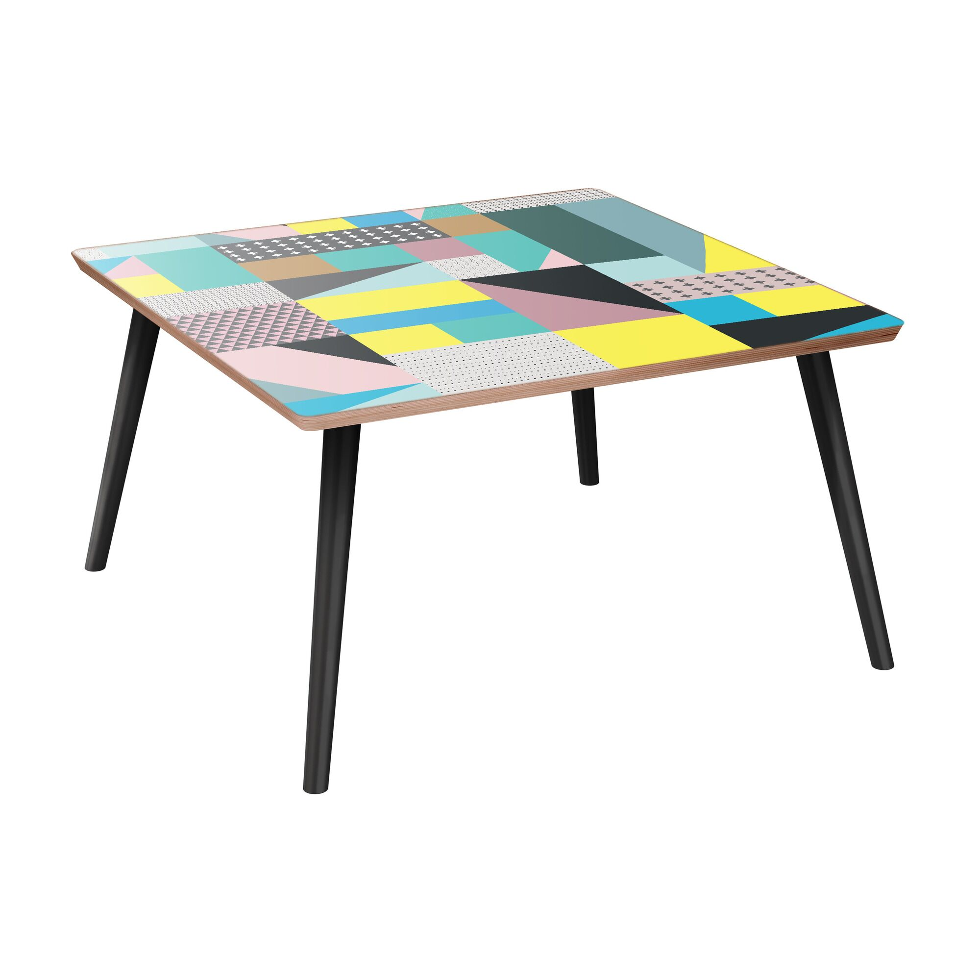 Joya Coffee Table Table Base Color: Black, Table Top Color: Walnut