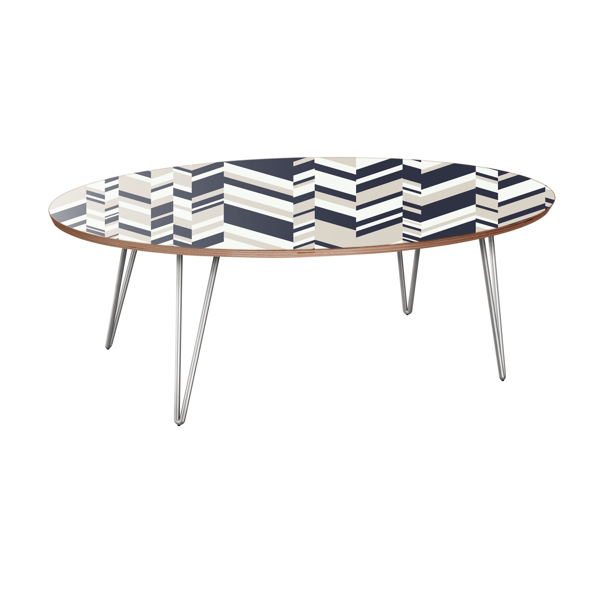 Kittrell Coffee Table Table Base Color: Chrome, Table Top Color: Walnut