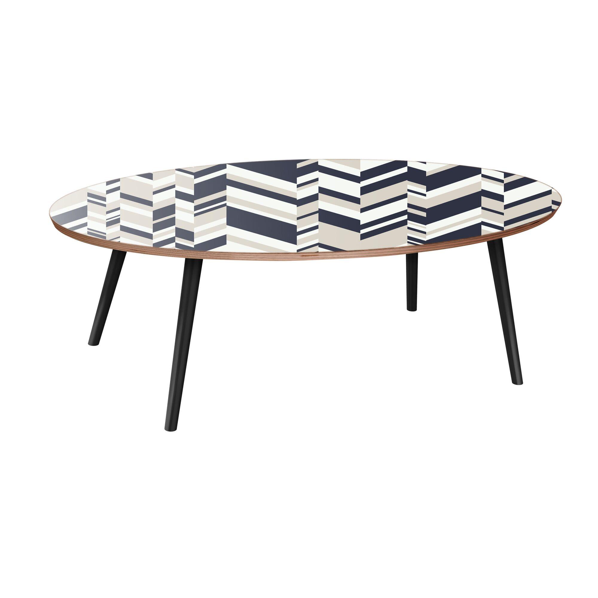 Galiano Coffee Table Table Top Color: Walnut, Table Base Color: Black