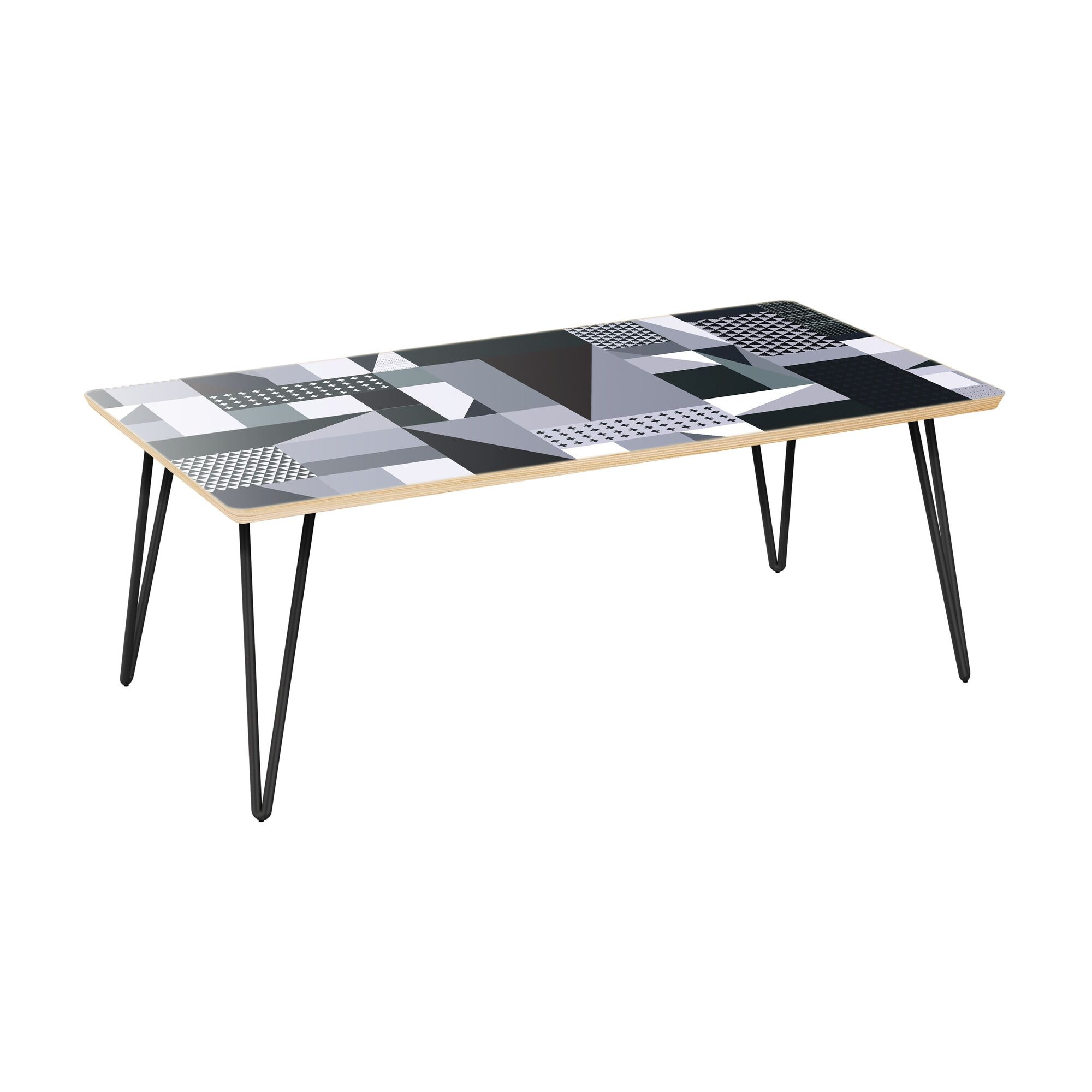 Jamesville Coffee Table Table Top Color: Natural, Table Base Color: Black