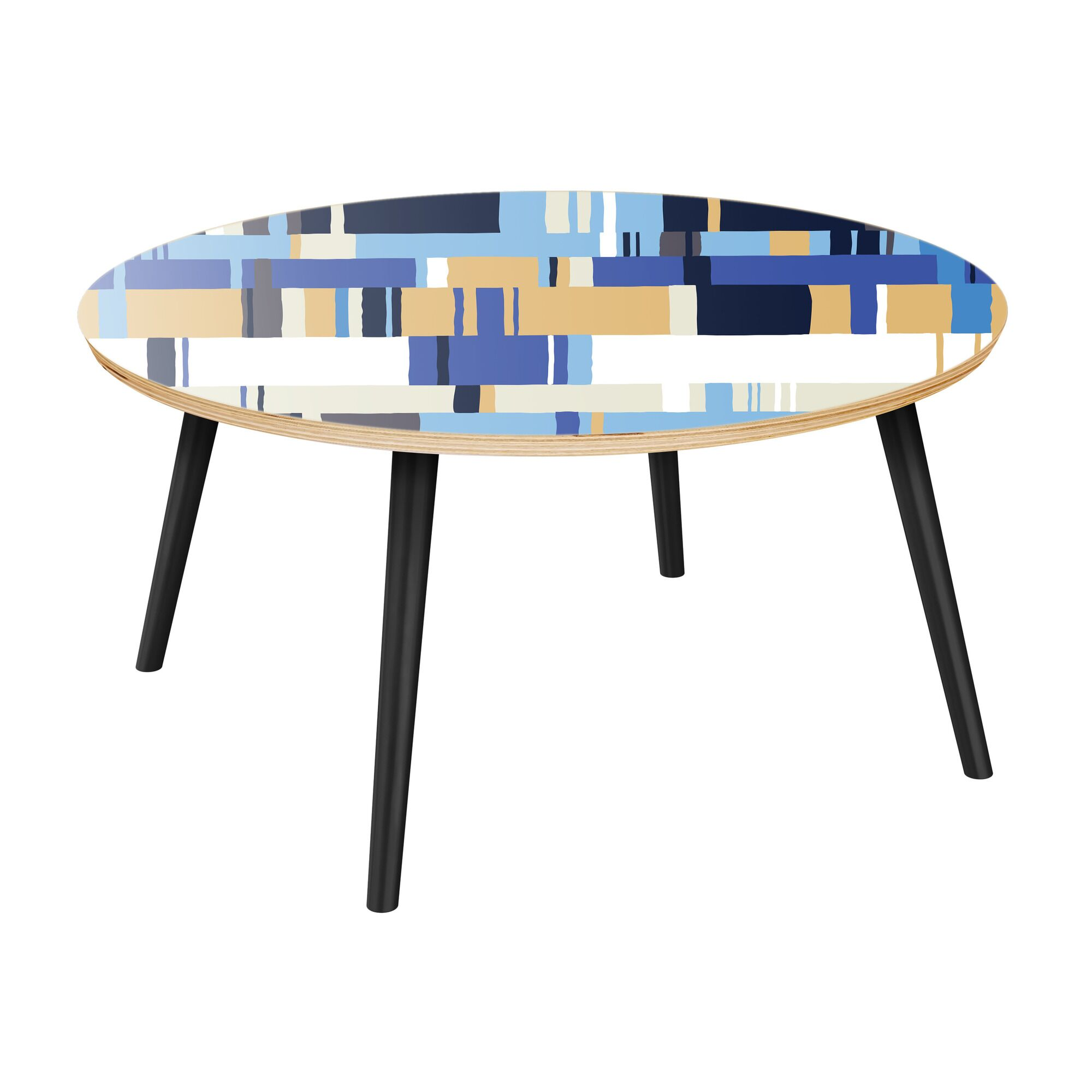 Hensel Coffee Table Table Top Color: Natural, Table Base Color: Black
