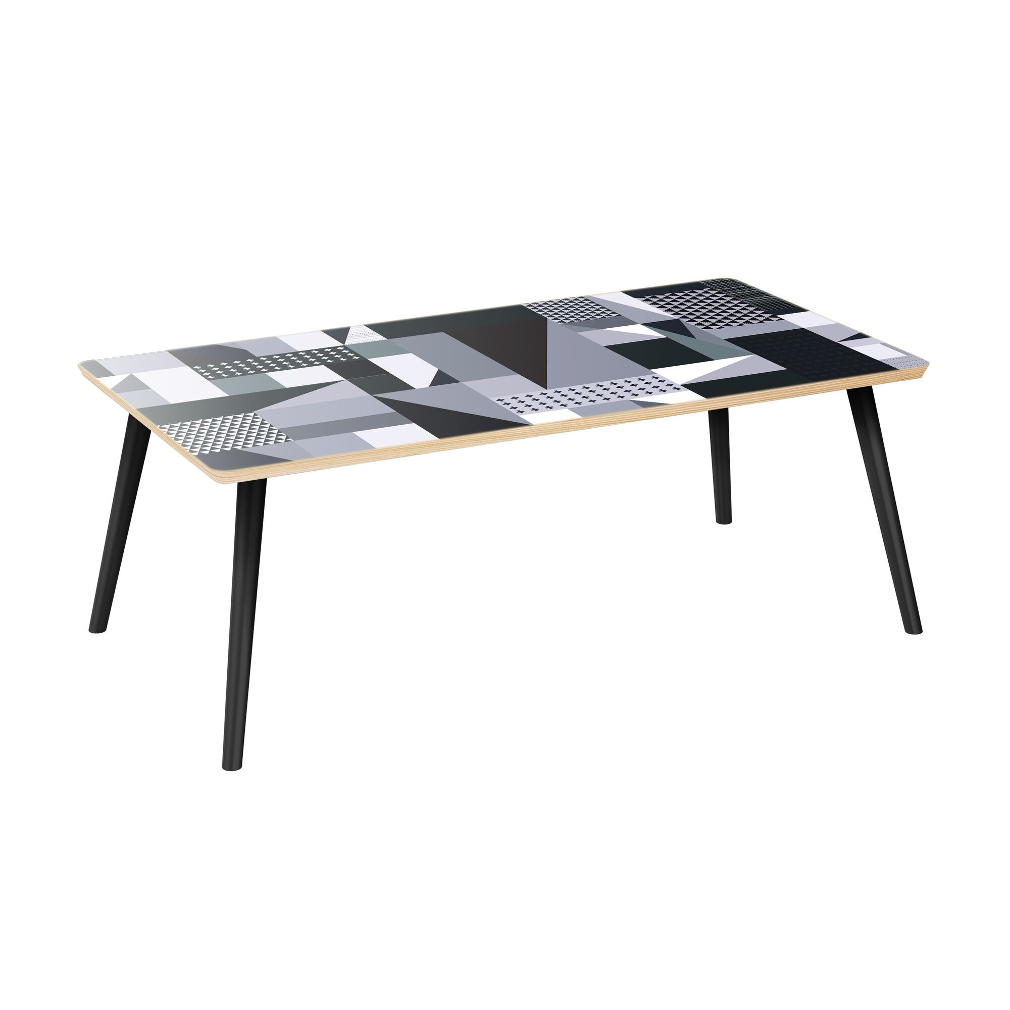 Jamya Coffee Table Table Top Color: Natural, Table Base Color: Black