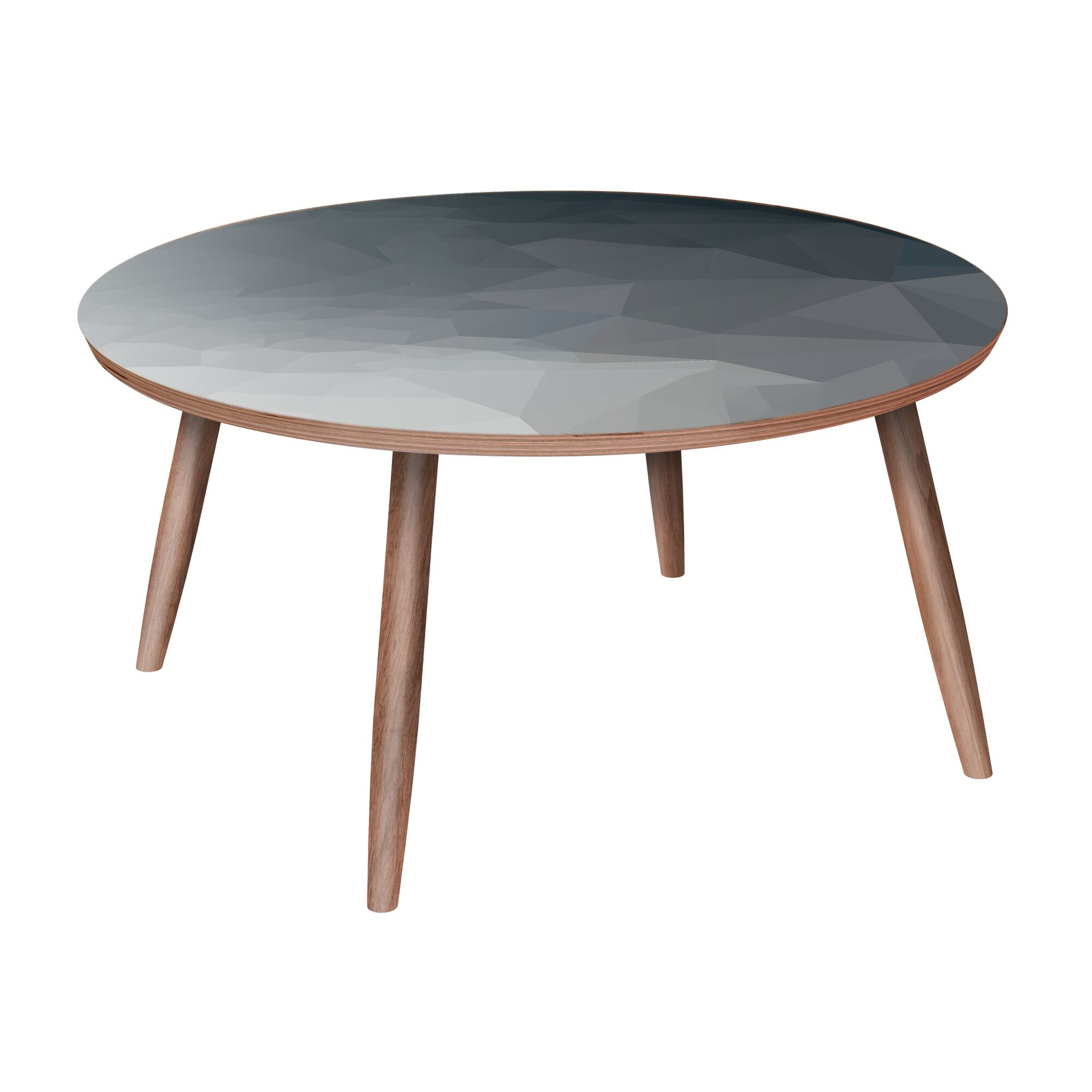 Lisieux Coffee Table Table Base Color: Walnut, Table Top Color: Blue