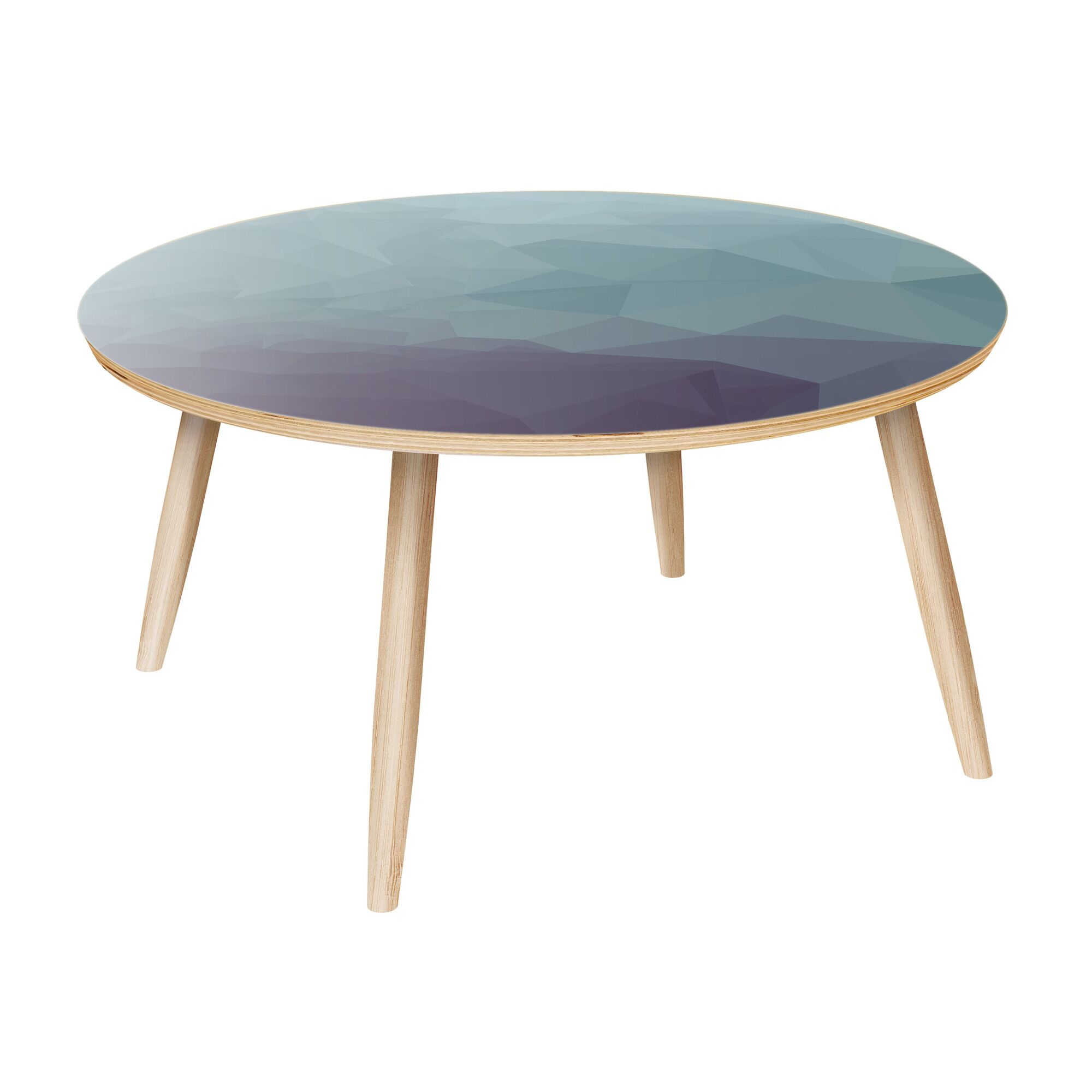 Lisieux Coffee Table Table Base Color: Natural, Table Top Color: Gray/Black