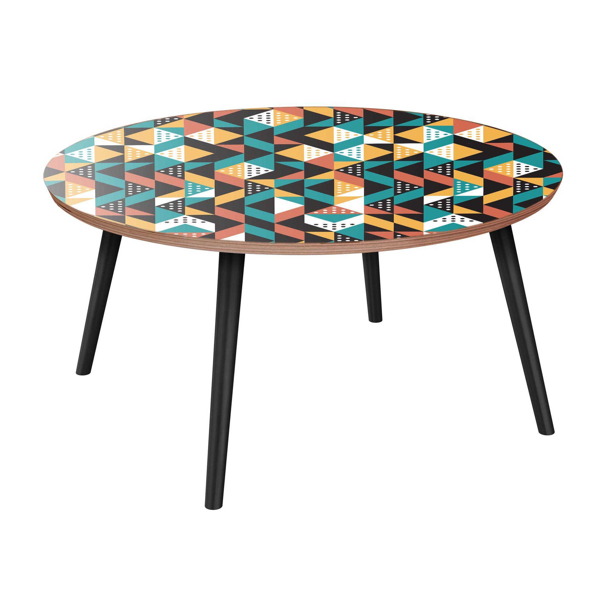 Appalachian Coffee Table Table Top Color: Walnut, Table Base Color: Black