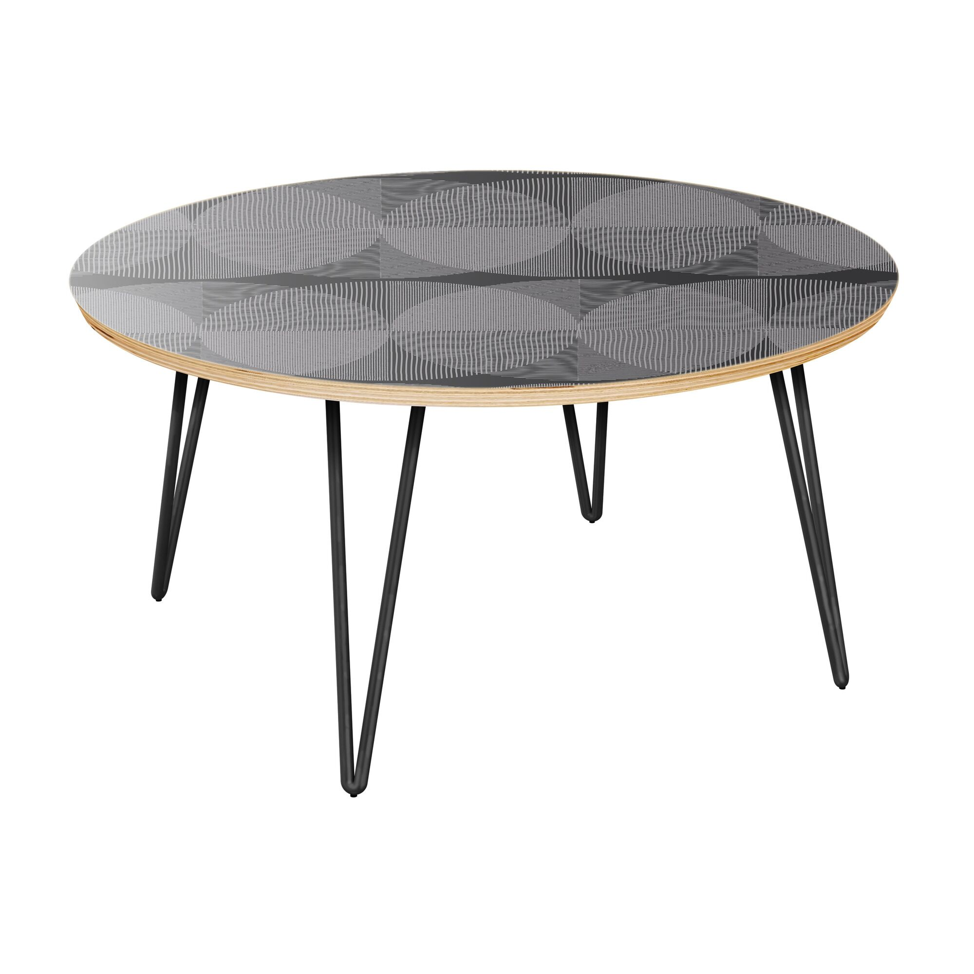 Espana Coffee Table Table Top Color: Natural, Table Base Color: Black