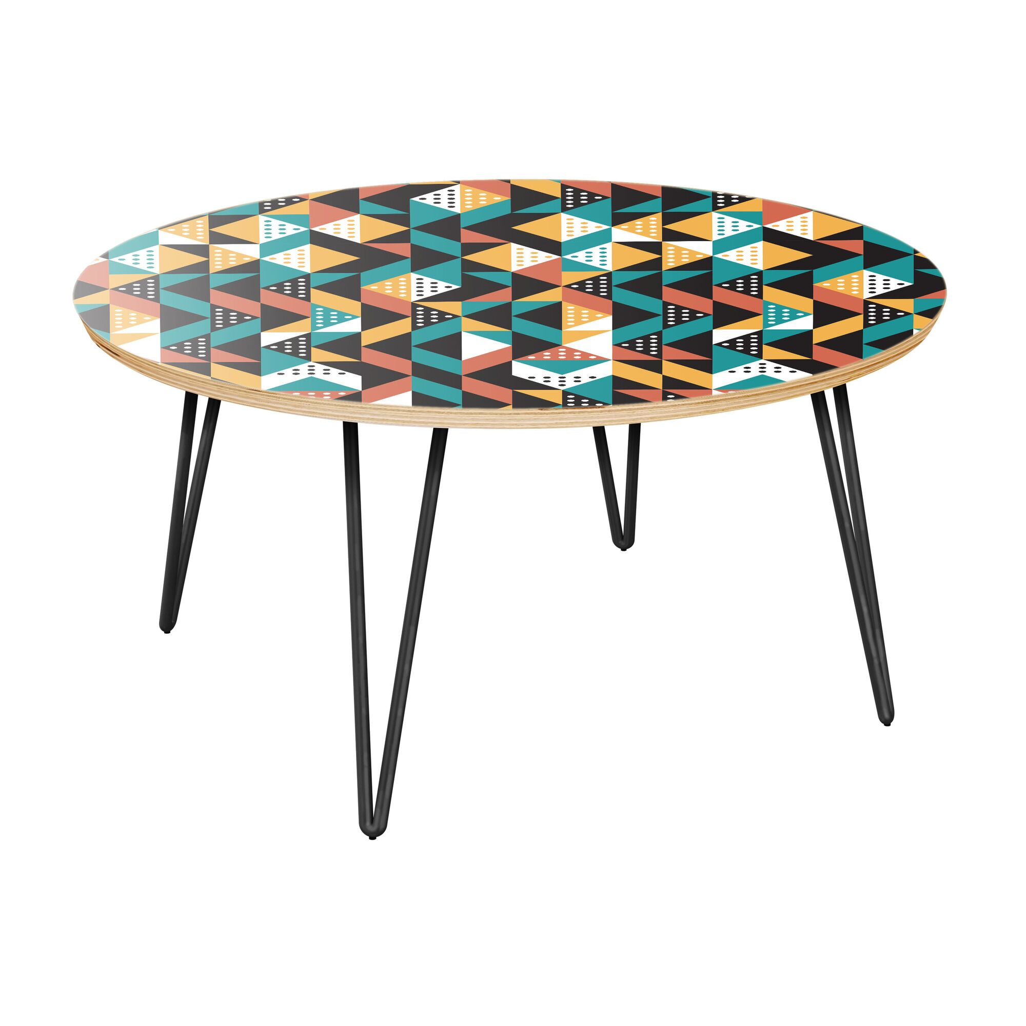 Aracely Coffee Table Table Top Color: Natural, Table Base Color: Black