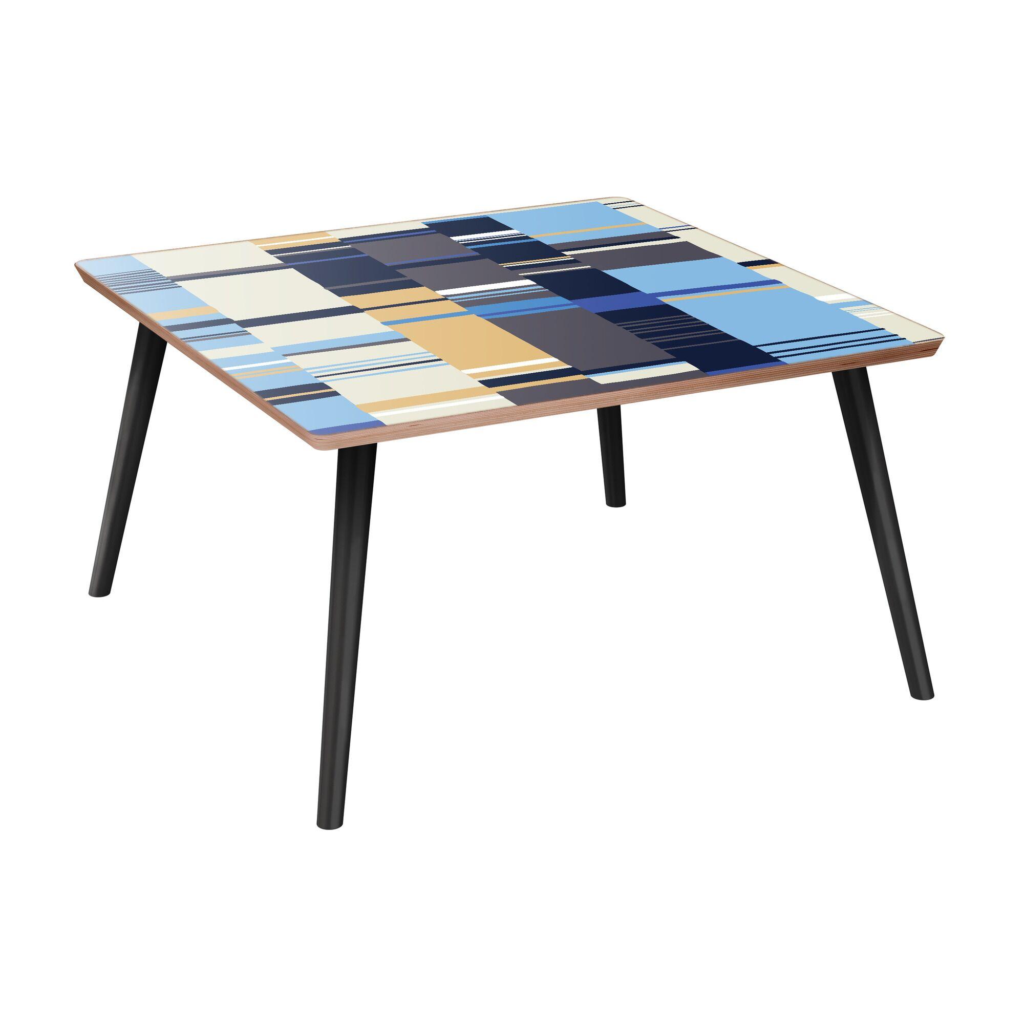 Rangel Coffee Table Table Base Color: Black, Table Top Color: Walnut