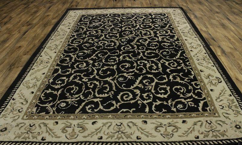 Melissa Oushak Oriental Hand-Tufted Wool Black Area Rug