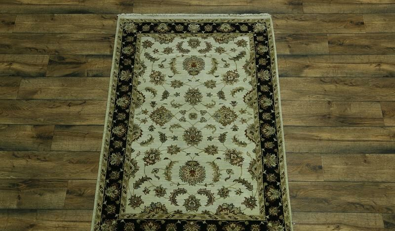 One-of-a-Kind Bovill Agra Oriental Hand-Knotted Wool Beige/Brown Area Rug