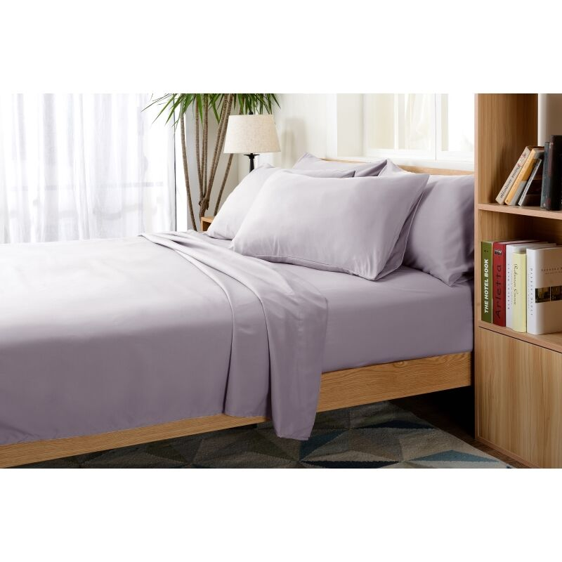 Luxurious Microfiber Sheet Set Color: Purple, Size: Twin XL