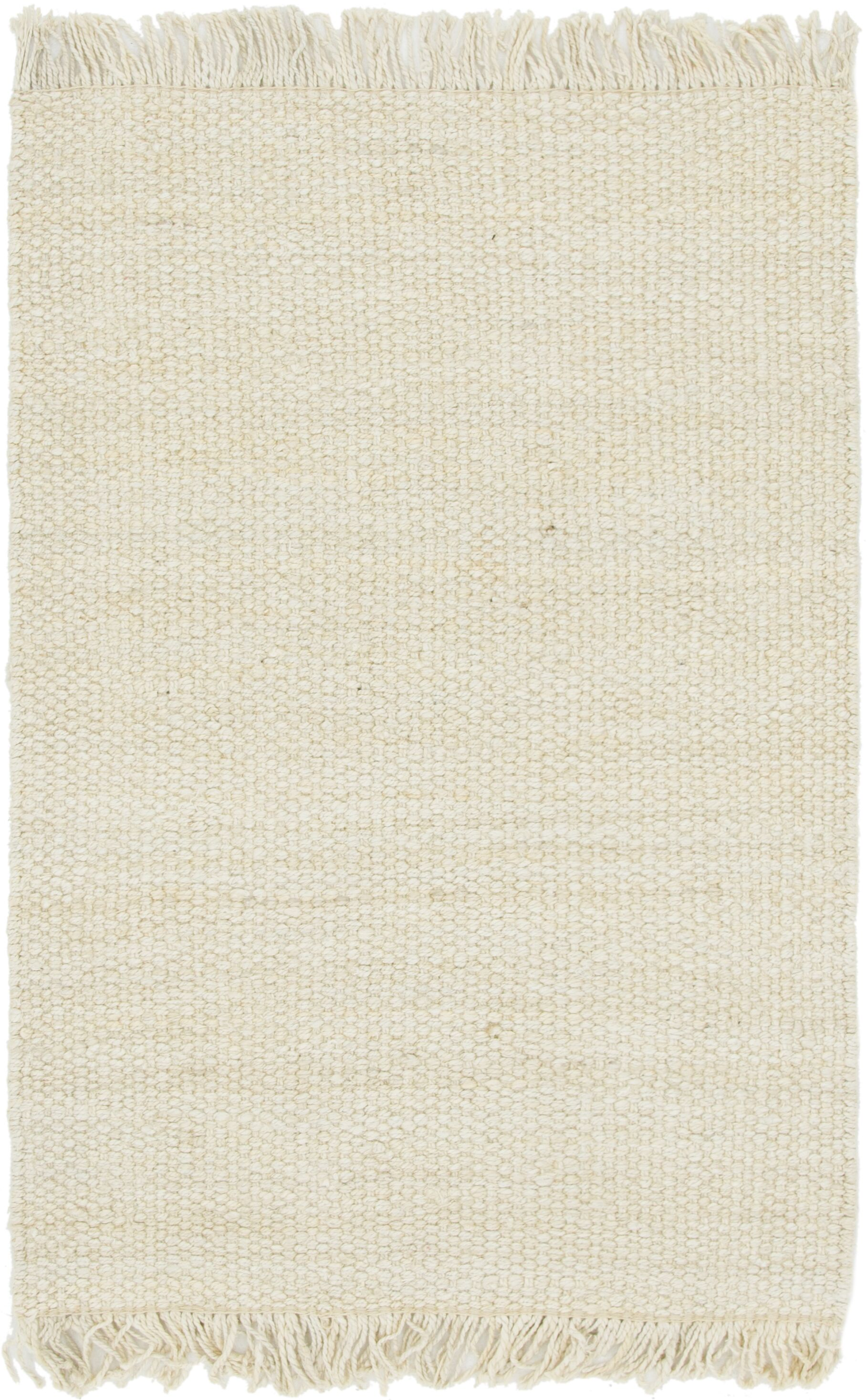 Gelman Hand-Woven Ivory Area Rug Rug Size: Rectangle 4' x 6'