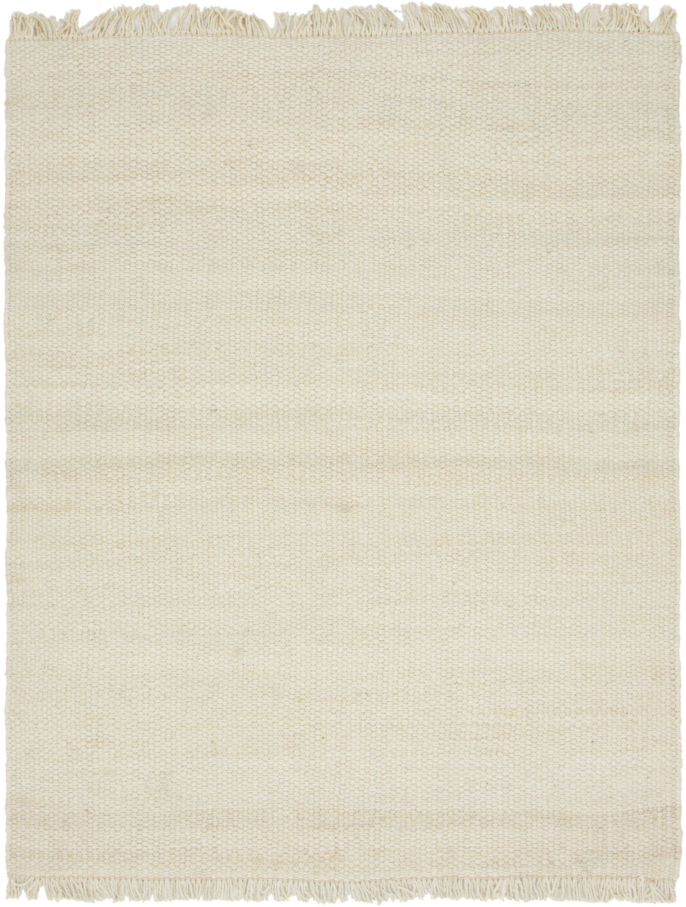 Gelman Hand-Woven Ivory Area Rug Rug Size: Rectangle 8' x 10'