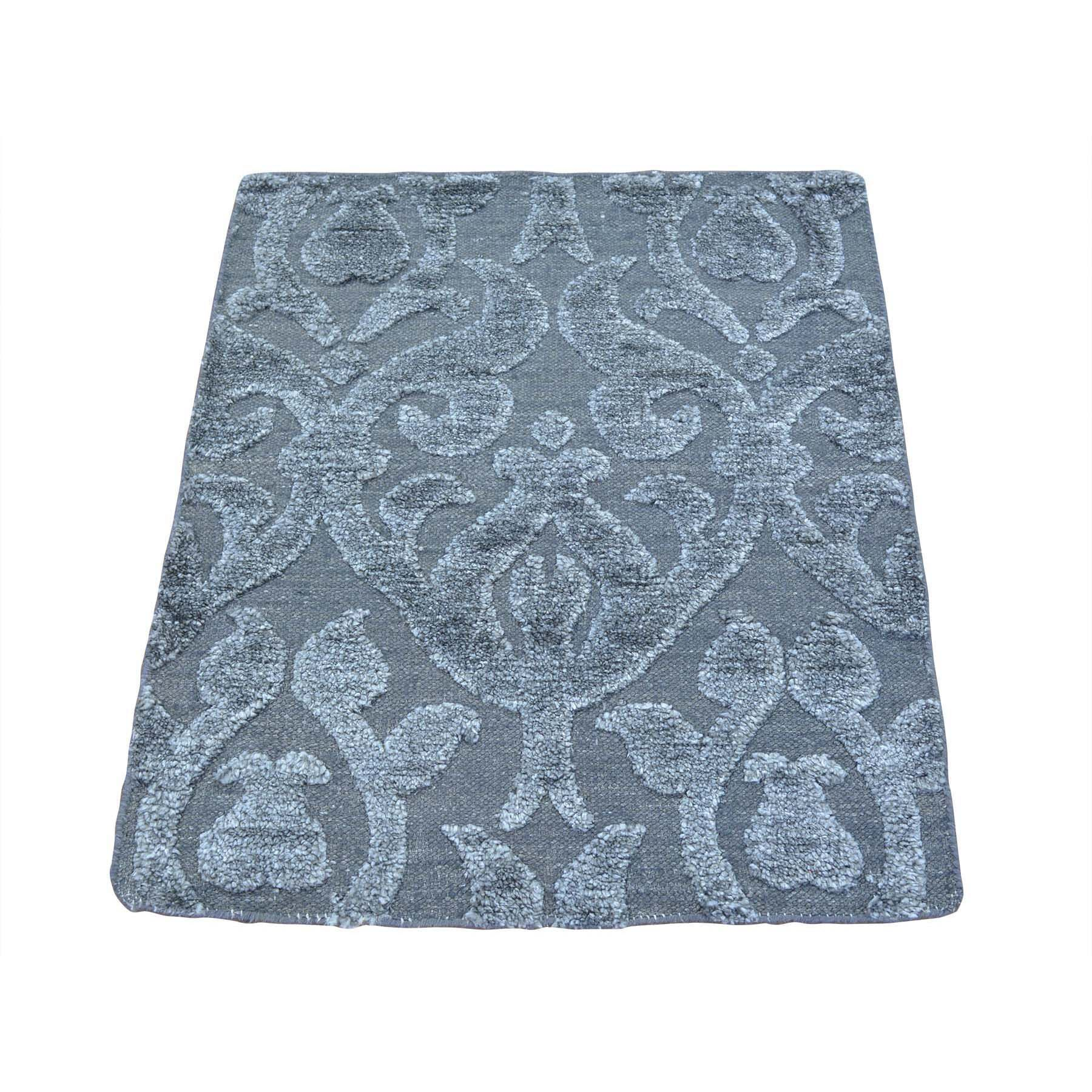 One-of-a-Kind Ellender Modern Hand-Knotted Silk Gray Area Rug