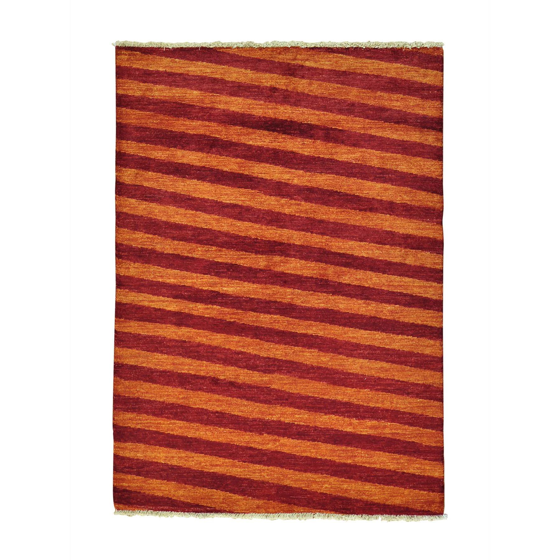 One-of-a-Kind Ferriera Peshawar Oriental Hand-Knotted Red/Orange Area Rug