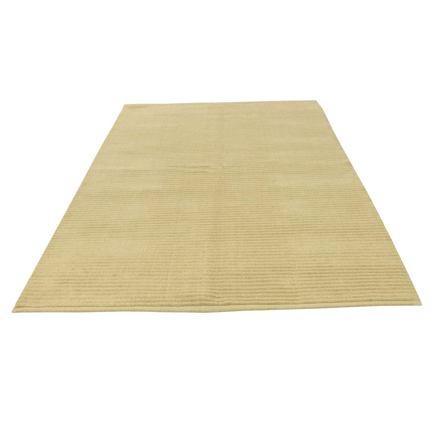 One-of-a-Kind Epperly Modern Nepali Cut and Loop Oriental Hand-Knotted Beige Area Rug