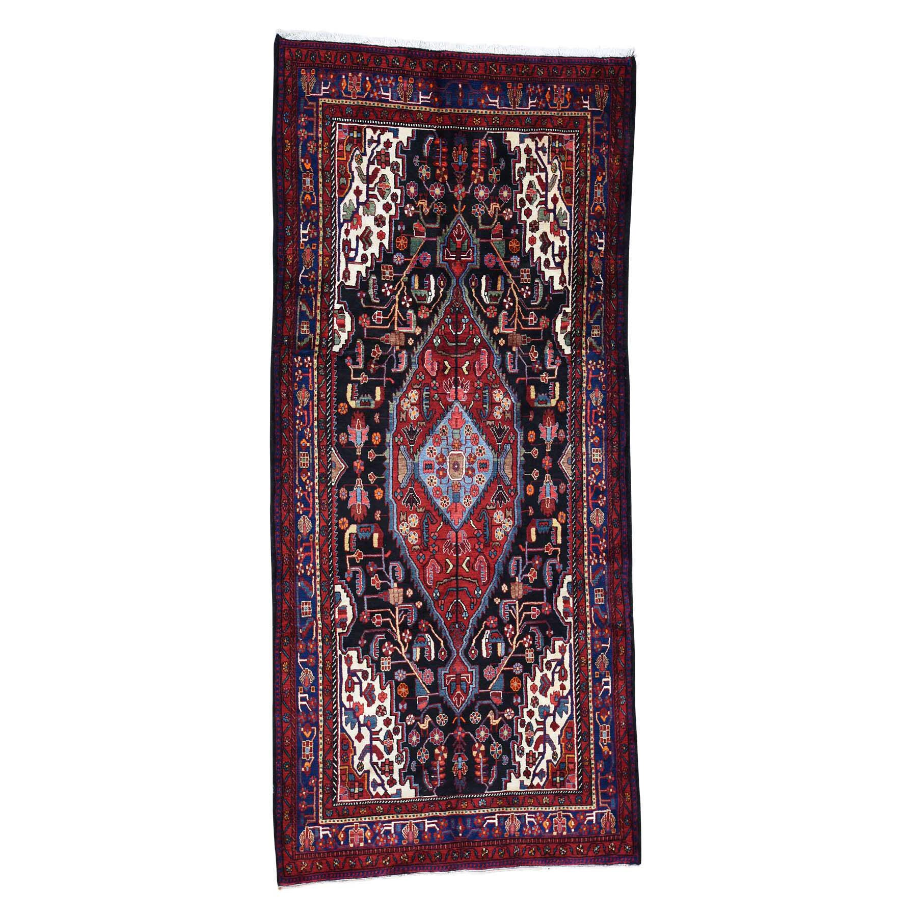 One-of-a-Kind Erdenheim Semi Persian Nahavand Wide Hand-Knotted Black Area Rug