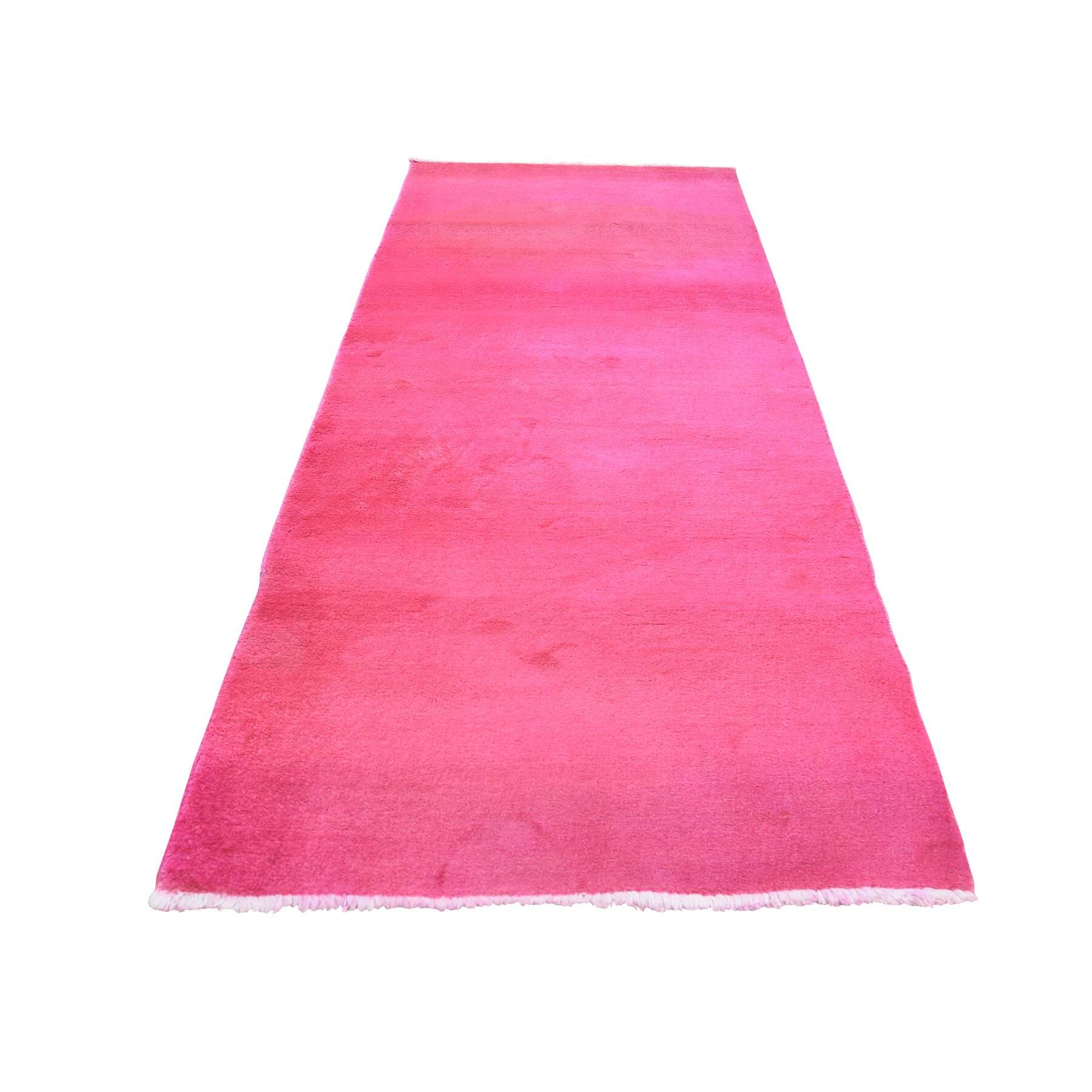 One-of-a-Kind Ferriera Overdyed Hand-Knotted Pink Area Rug
