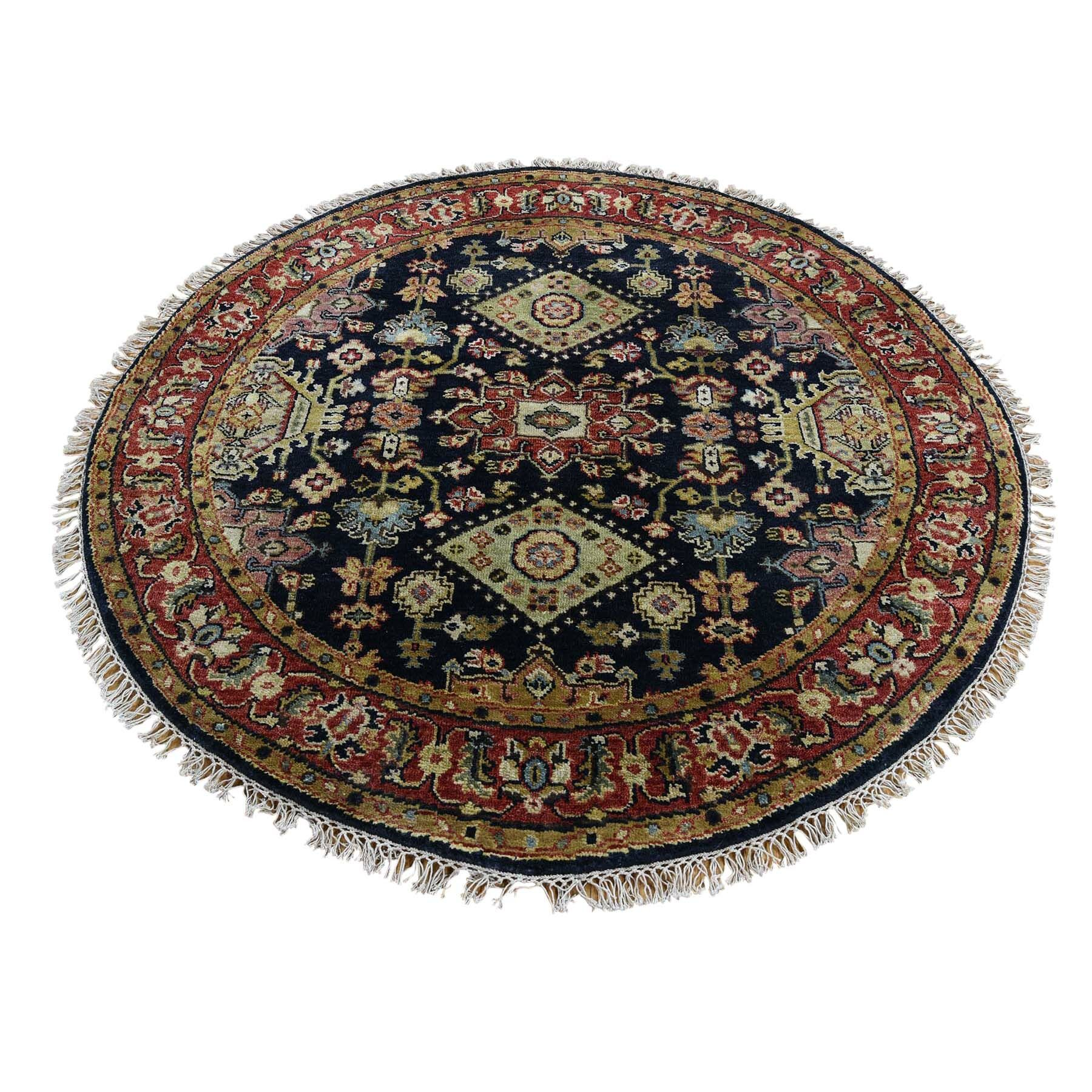 One-of-a-Kind Newhouse Oriental Hand-Knotted Black Area Rug