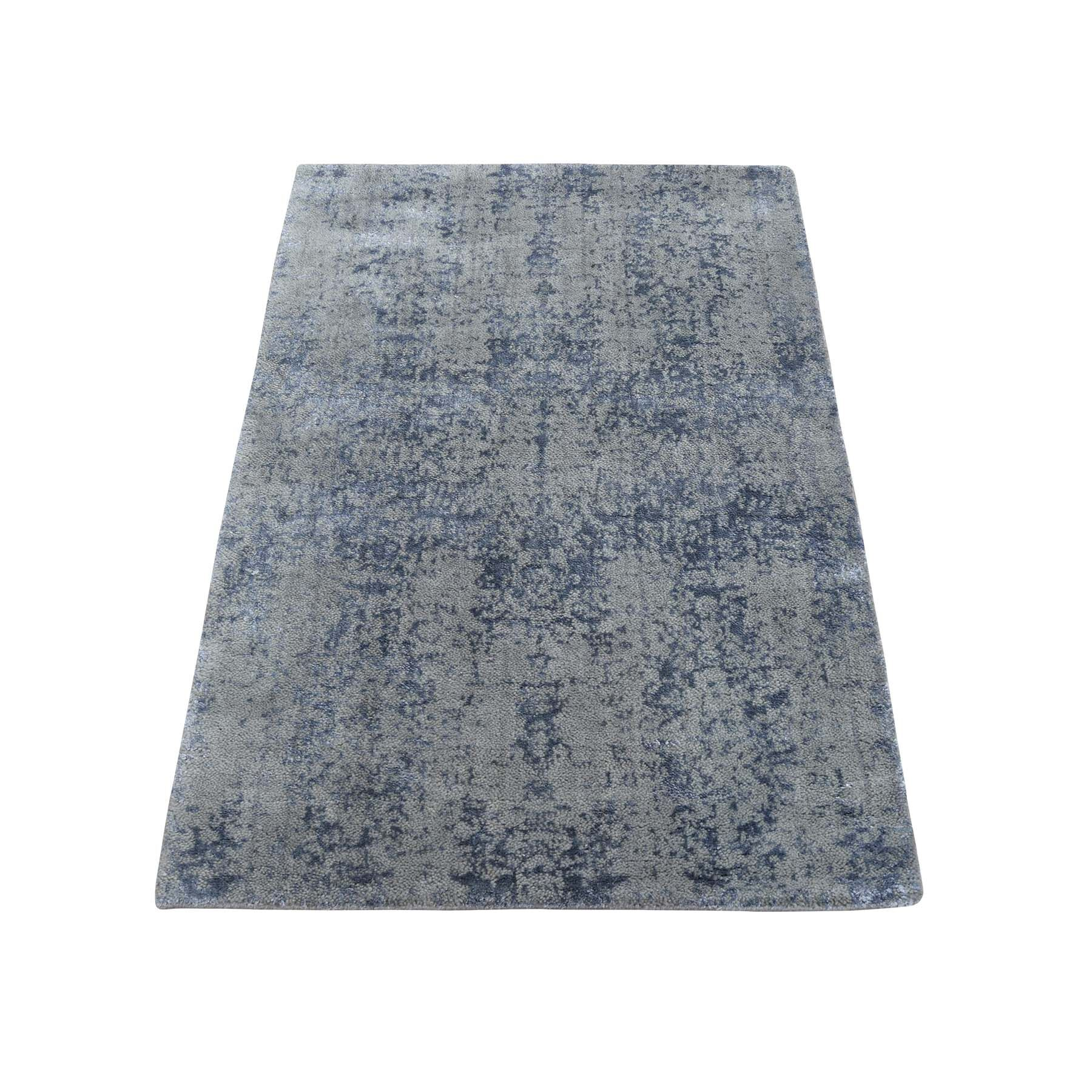 One-of-a-Kind Port Augusta Abstract Oriental Hand-Knotted Silk Gray Area Rug