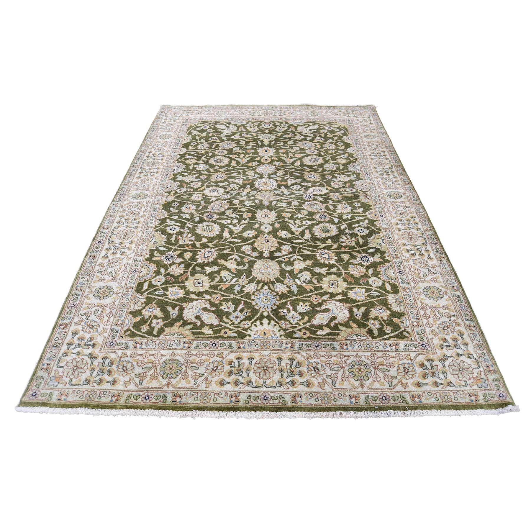 One-of-a-Kind Gossard Pak Persian 16/16 Quality Oriental Hand-Knotted Green Area Rug
