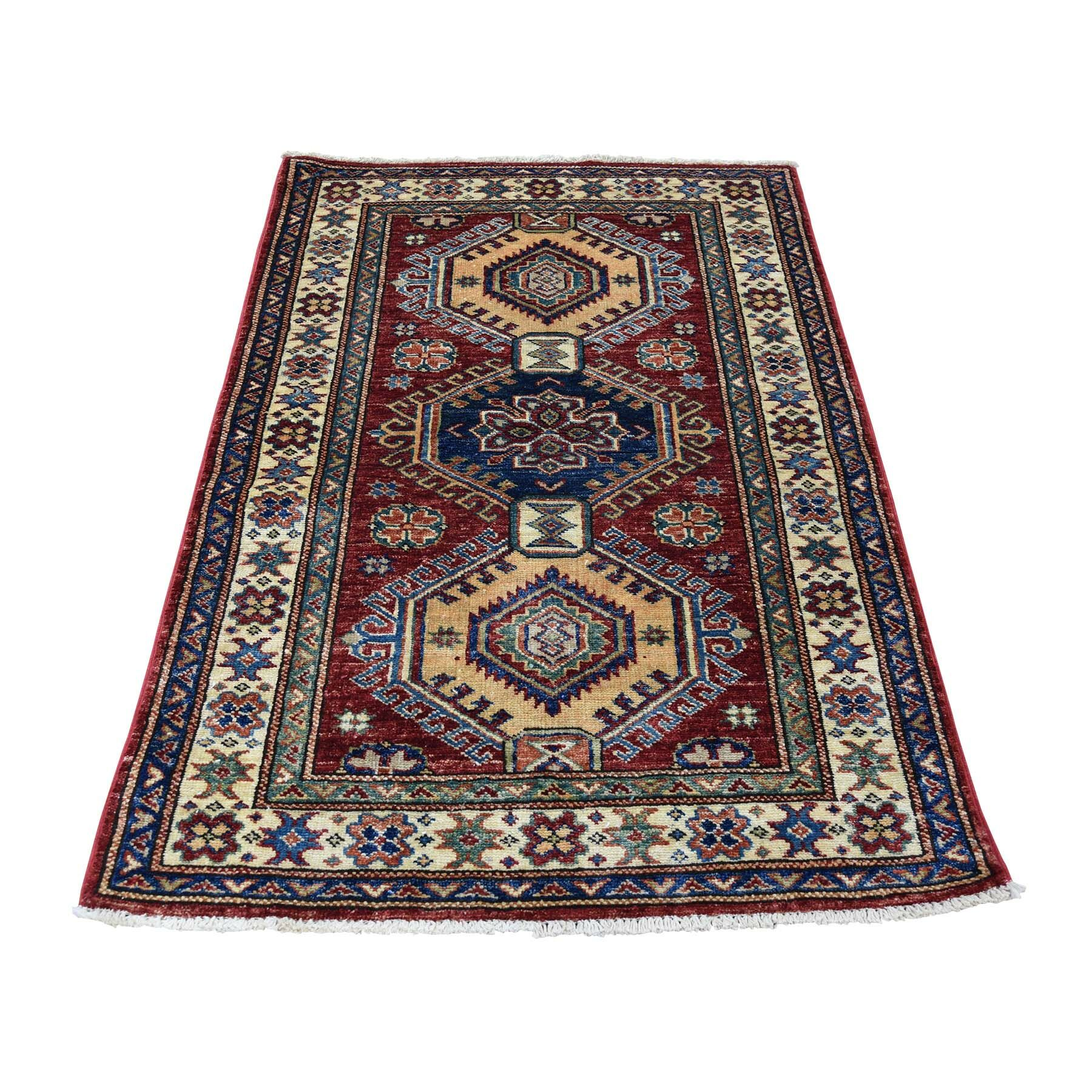 One-of-a-Kind Espada Super Caucasian Oriental Hand-Knotted Red Area Rug