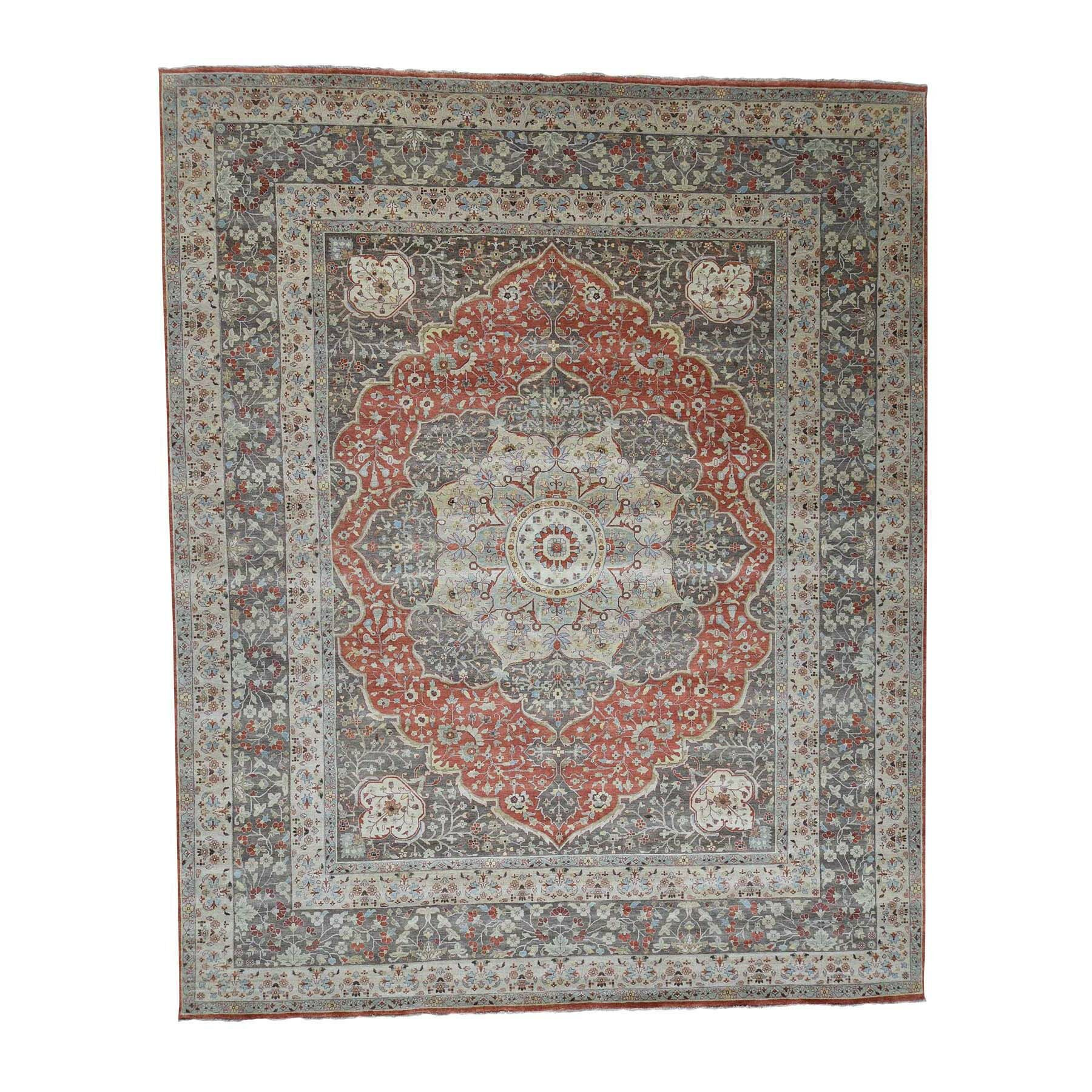 One-of-a-Kind Ehrenfeld Haji Jalili Re-Creation Hand-Knotted Brown Area Rug