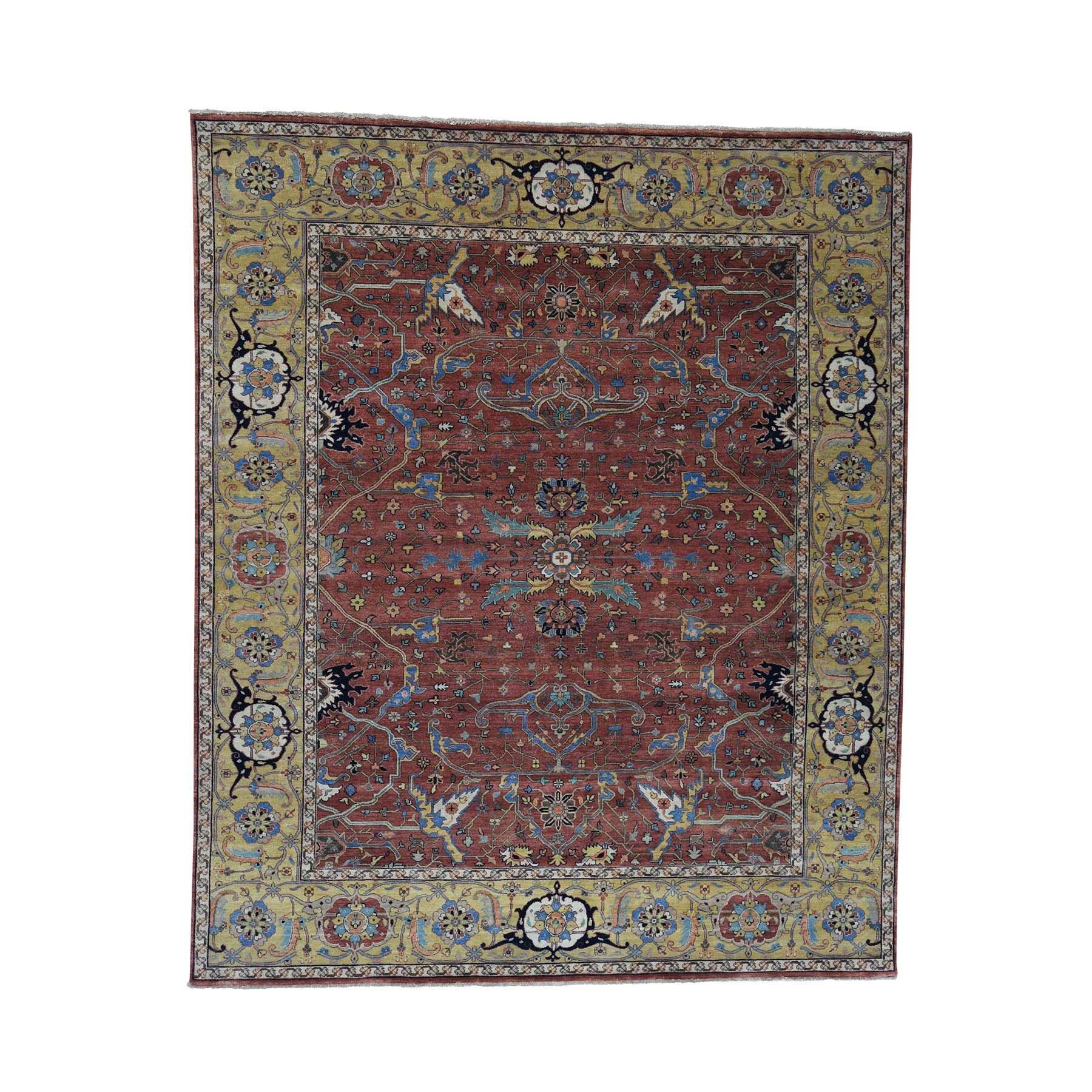 One-of-a-Kind Newcastle All Over Re-Creation Oriental Hand-Knotted Red Area Rug