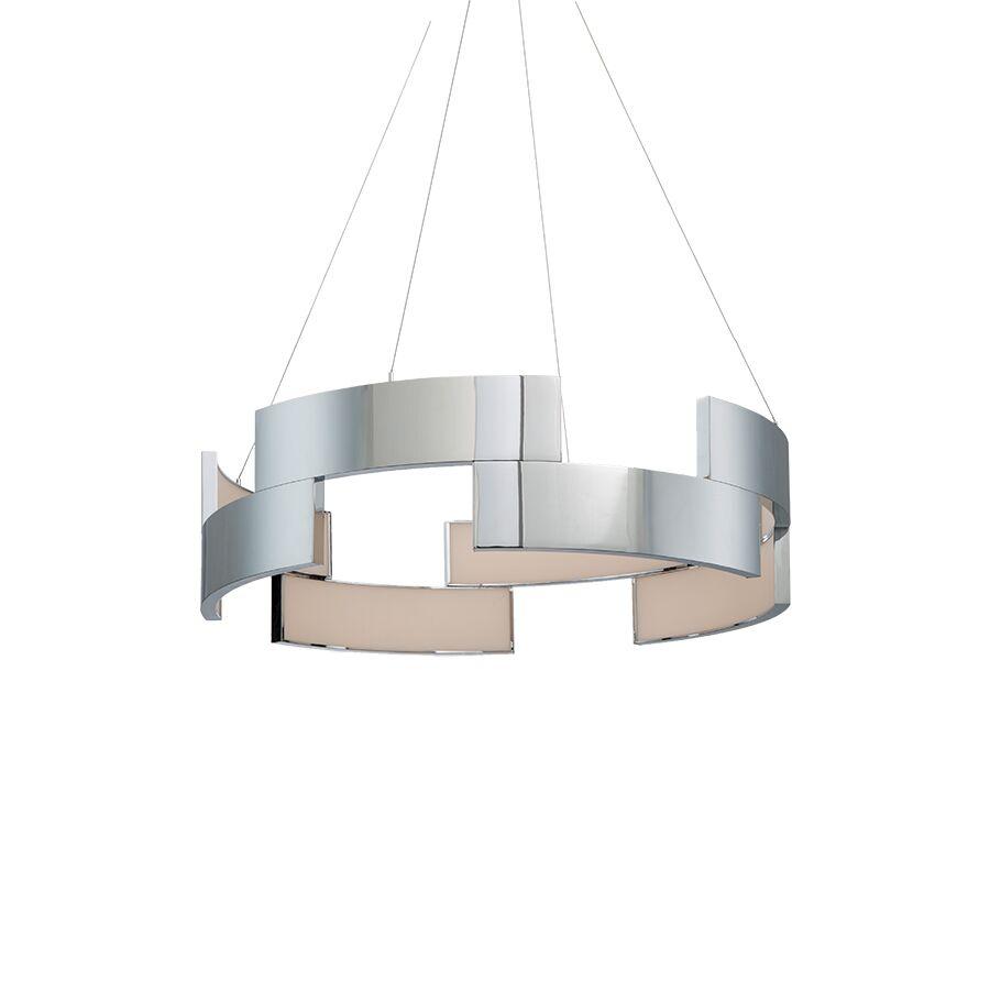 Frampton 1-Light LED Dome Pendant Finish: Chrome, Size: 38 Inches