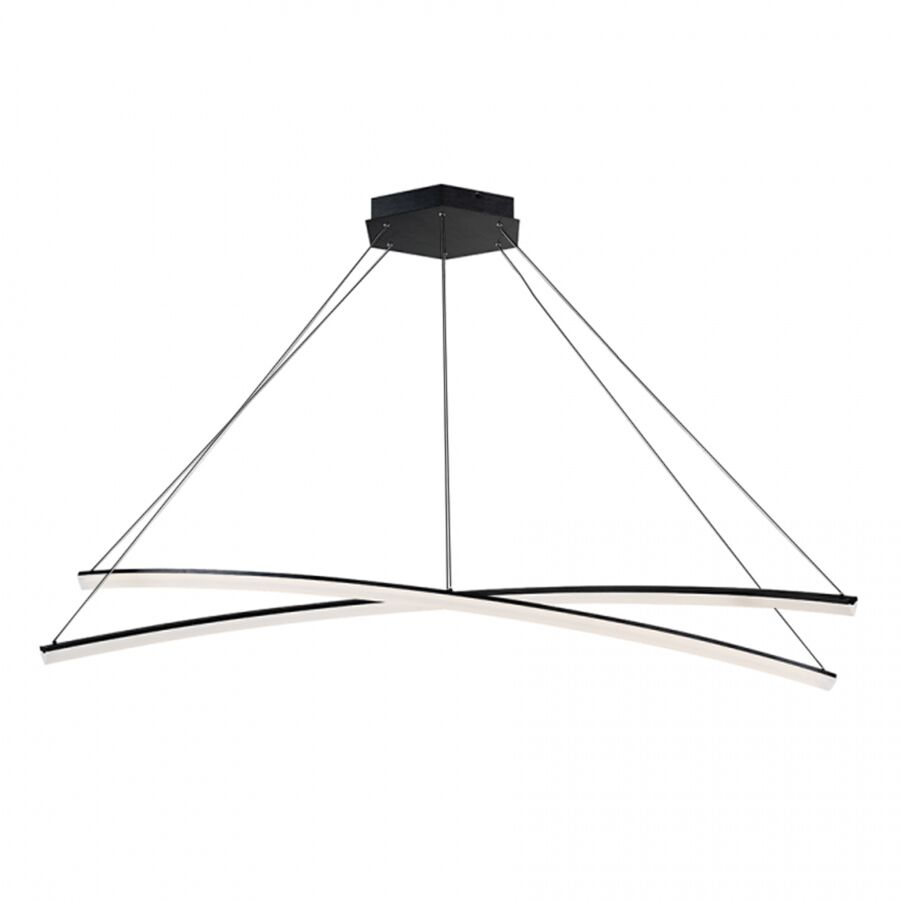 Franck 2-Light LED Novelty Pendant Finish: Black