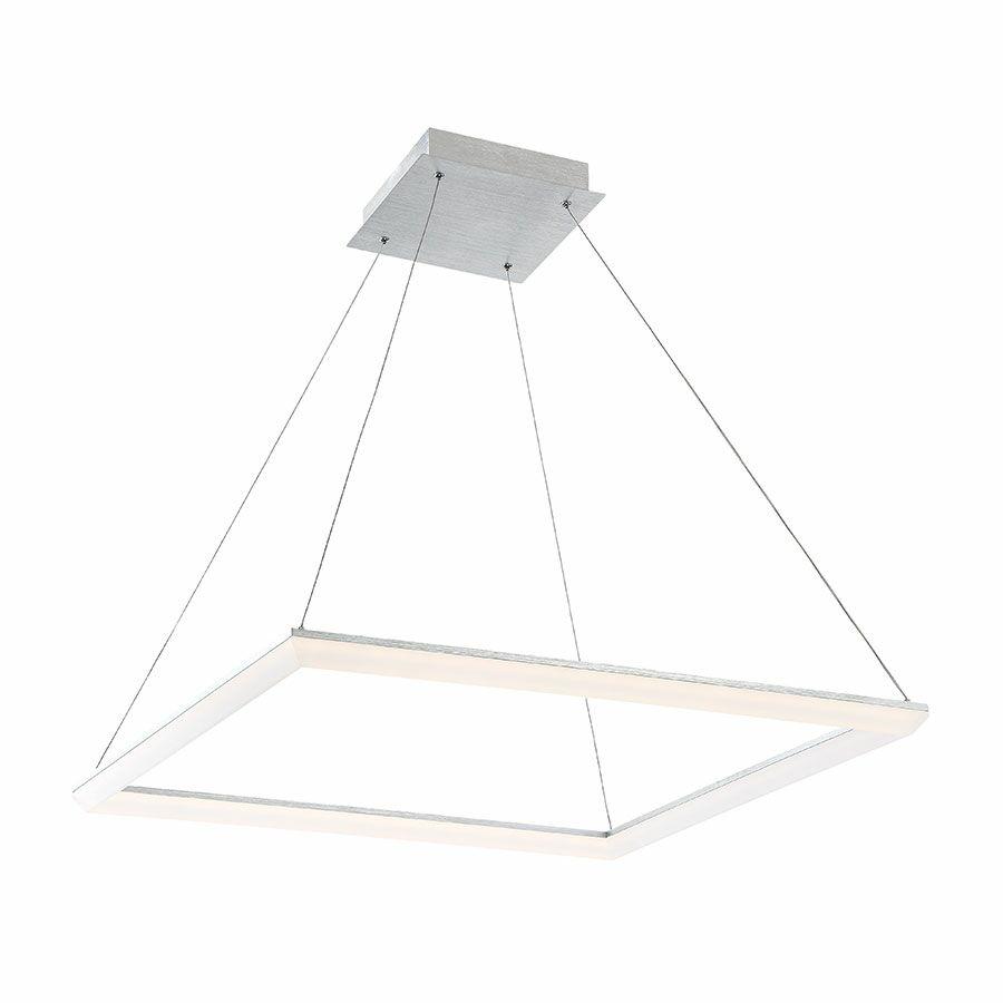 Fraise 1-Light LED Dome Pendant Size: 28 Inches, Finish: Brushed Aluminum