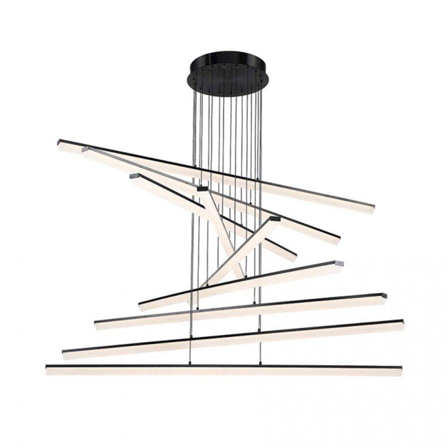 Frampton Cotterell 9-Light LED Novelty Pendant Finish: Black