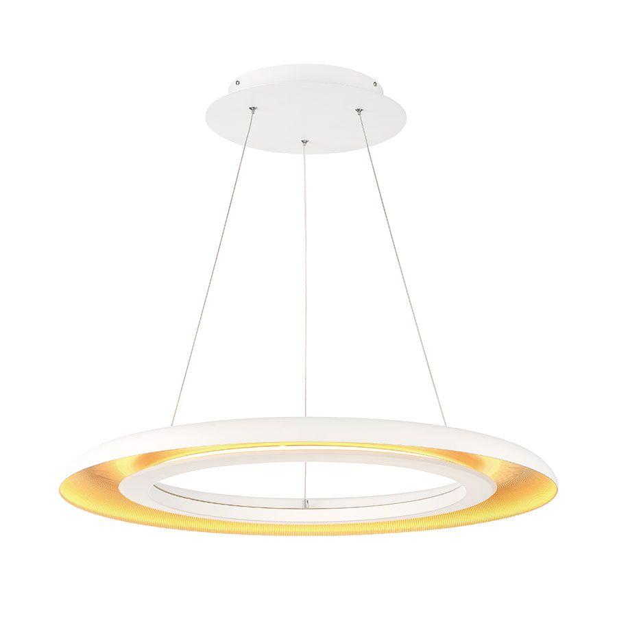 Fossum 1-Light LED Dome Pendant Shade Color: White
