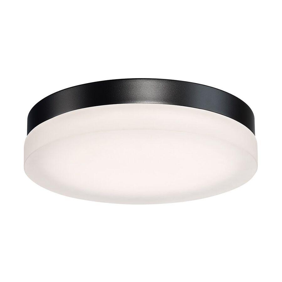 Circa 1-Light LED Flush Mount Fixture Finish: Black, Size: 2.5