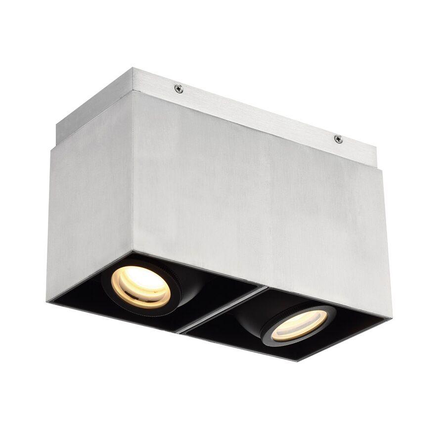 Adjustable Gimbal 2-Light LED Flush Mount Fixture Finish: Brushed Aluminum