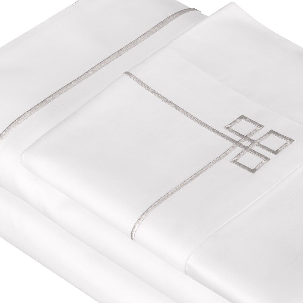 500 Thread Count 100% Cotton Sheet Set Color: Dove Gray, Size: Queen