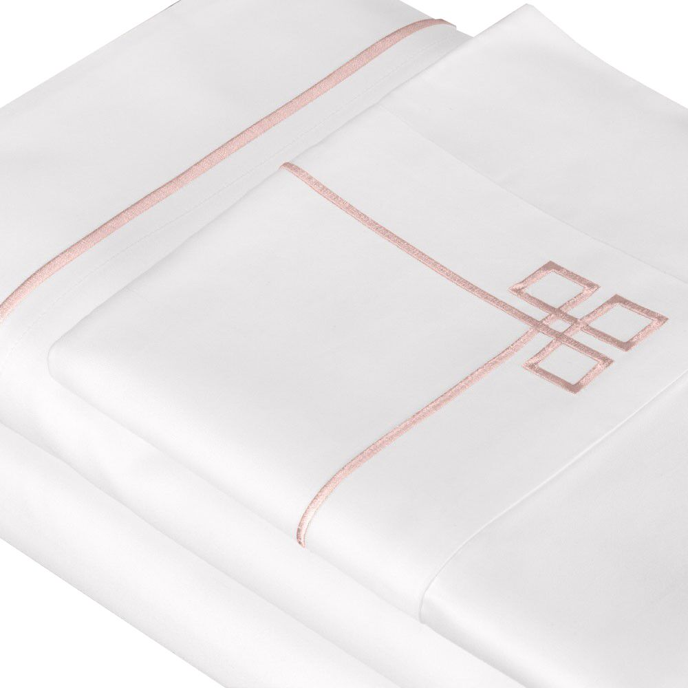 500 Thread Count 100% Cotton Sheet Set Color: Rose, Size: California King