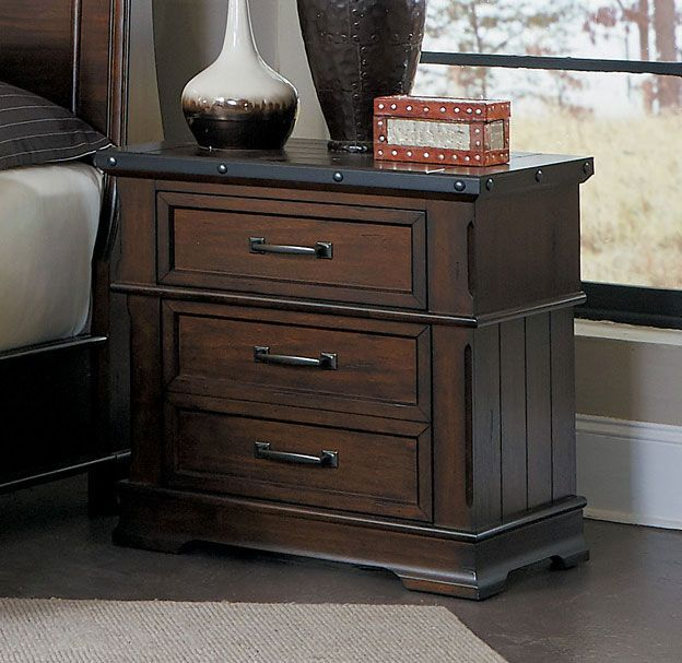 Everly Wooden 2 Drawer Nightstand