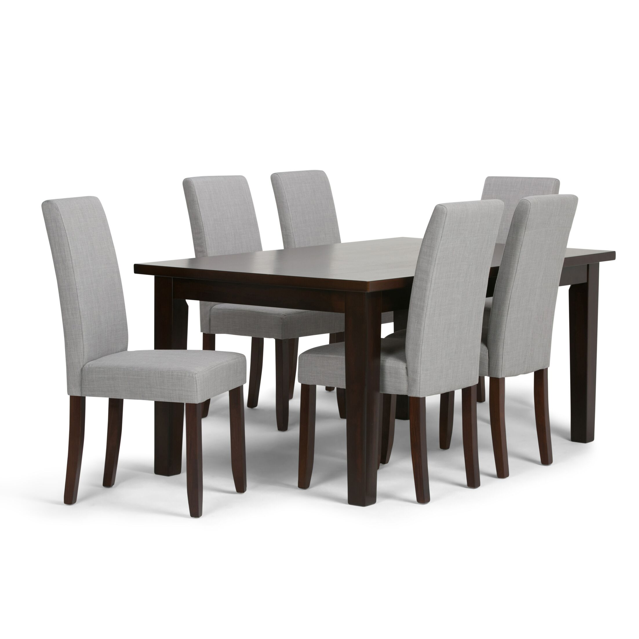 Acadian 7 Piece Dining Set Chair Finish: Dove Gray
